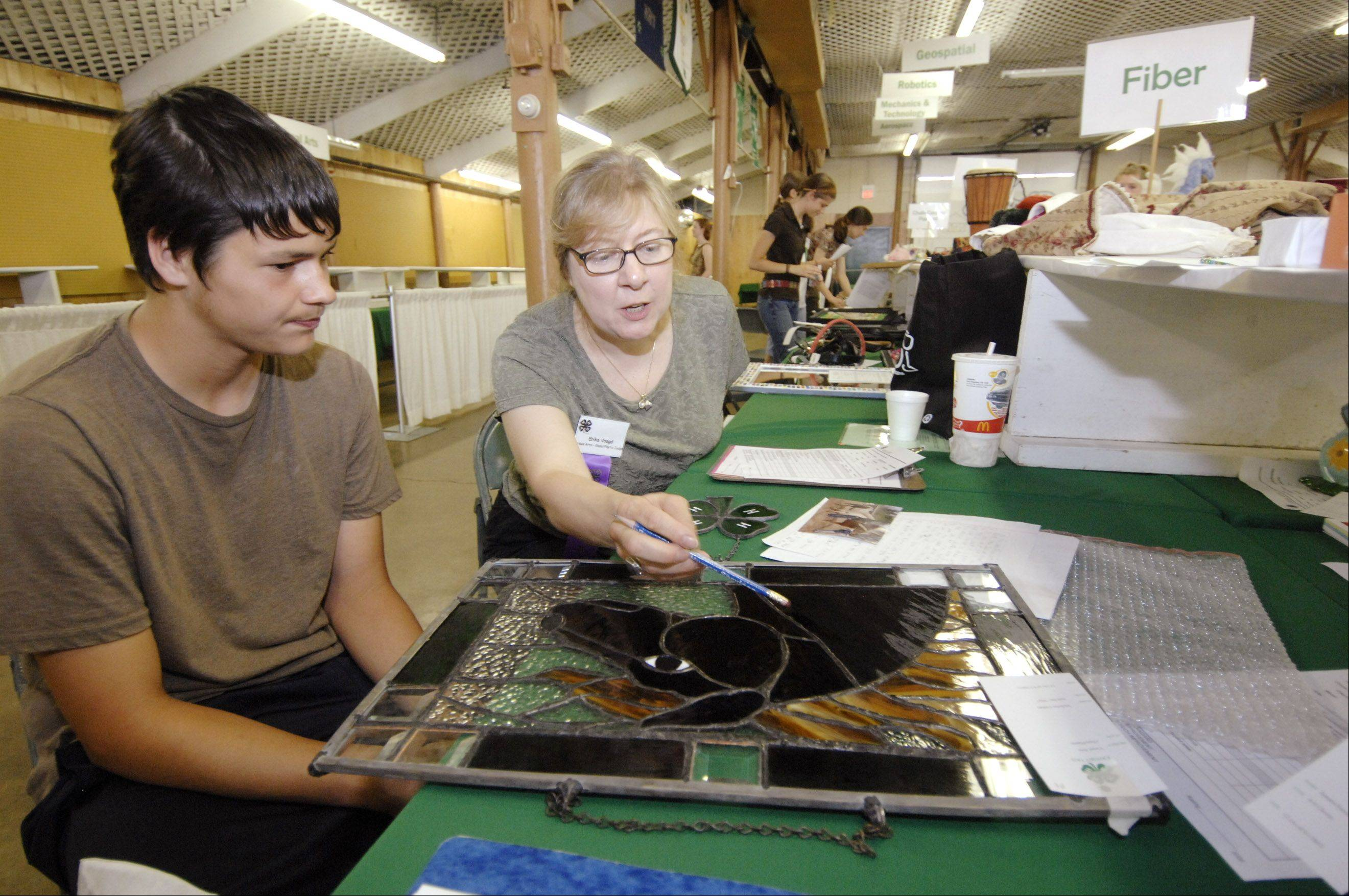 There are roughly 300 members of DuPage County 4-H groups participating in this year's county fair. Competitors may submit entries in areas ranging from woodworking to stained glass to livestock displays.