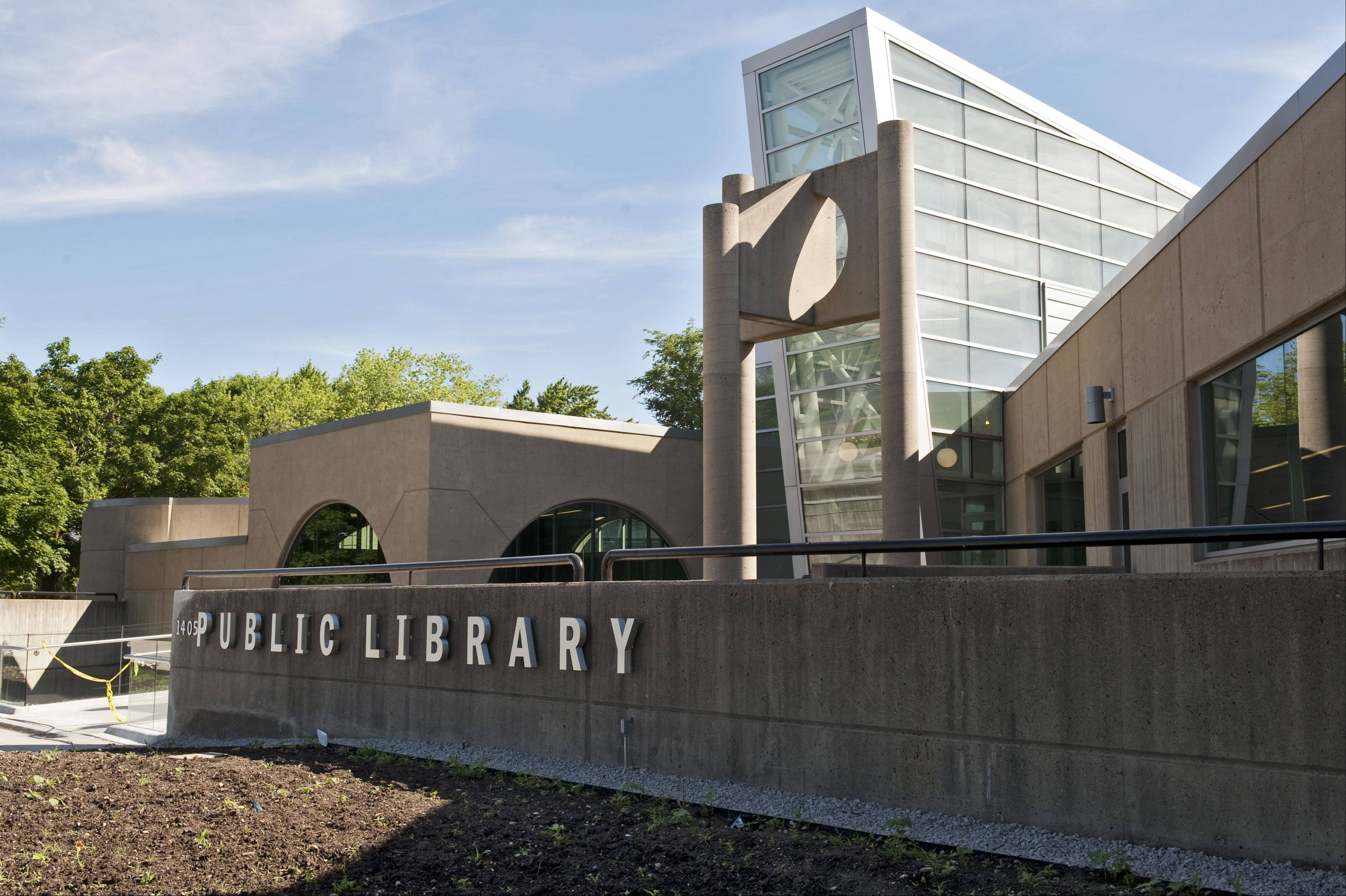 This is the exterior of the greatly expanded and rebuilt Poplar Creek Library's Streamwood location.