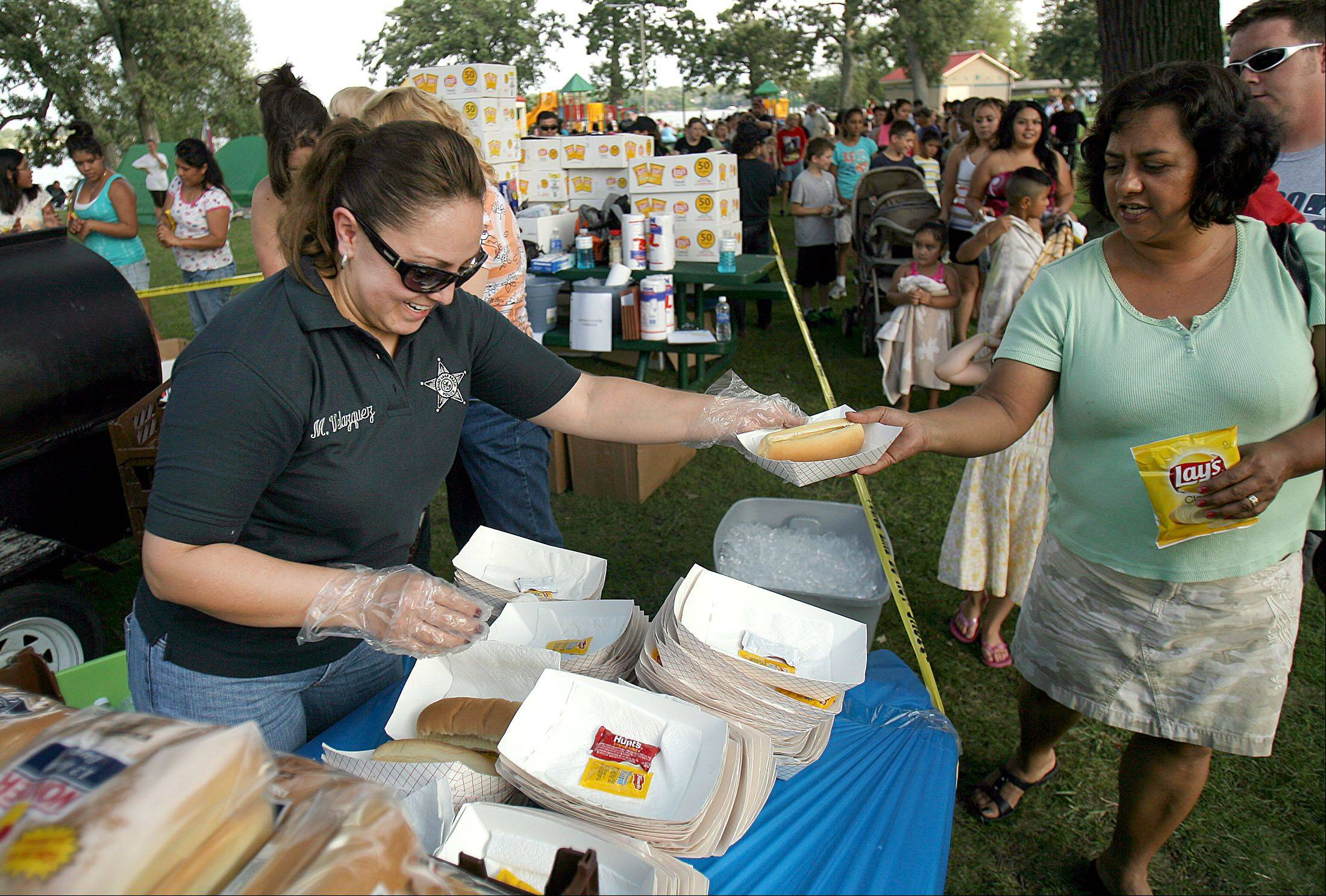 Last year's Round Lake Beach National Night Out event included food and festivities.