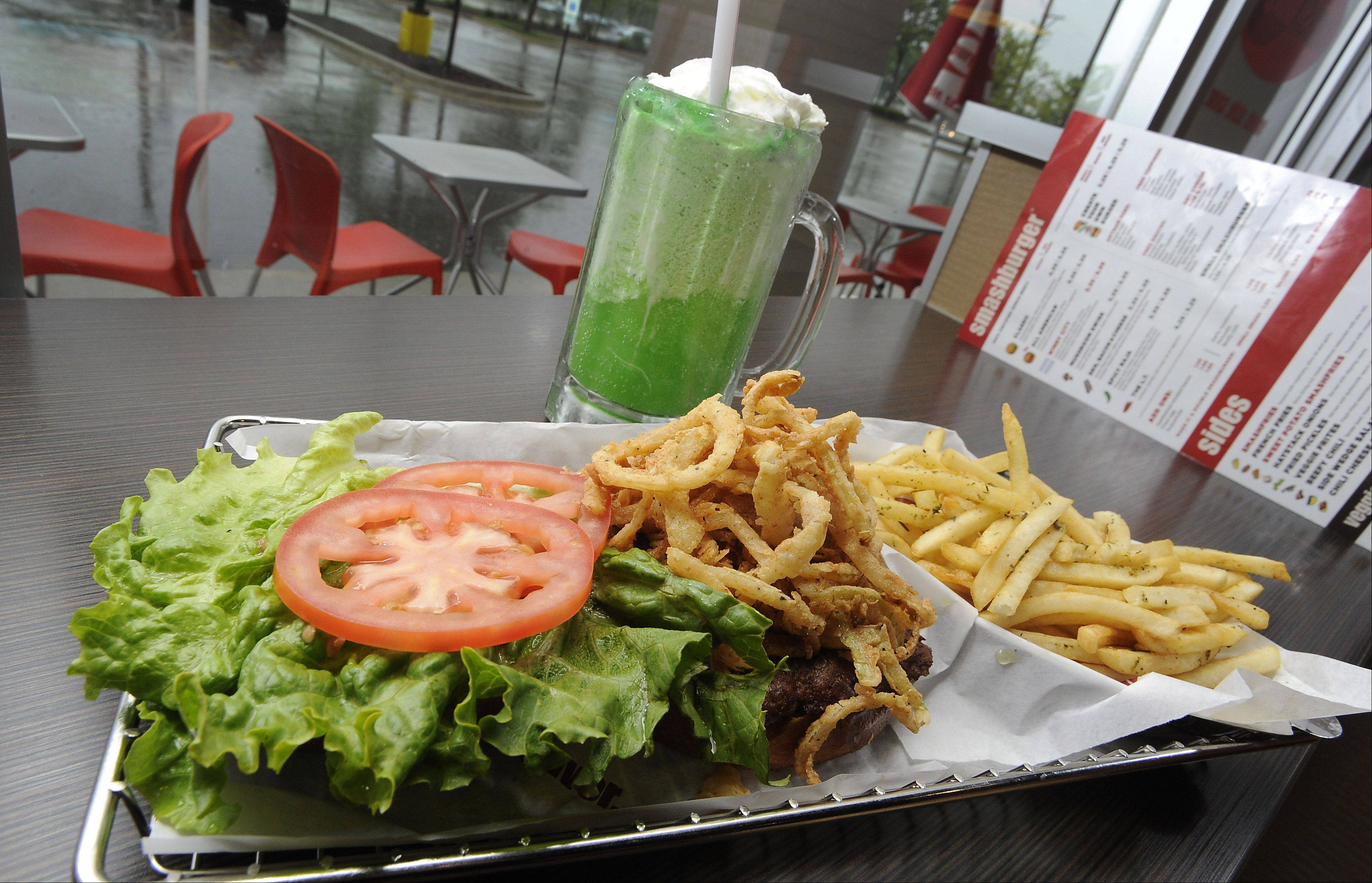 The Windy City Burger is just one option at the newly opened Smashburger in Wheaton.