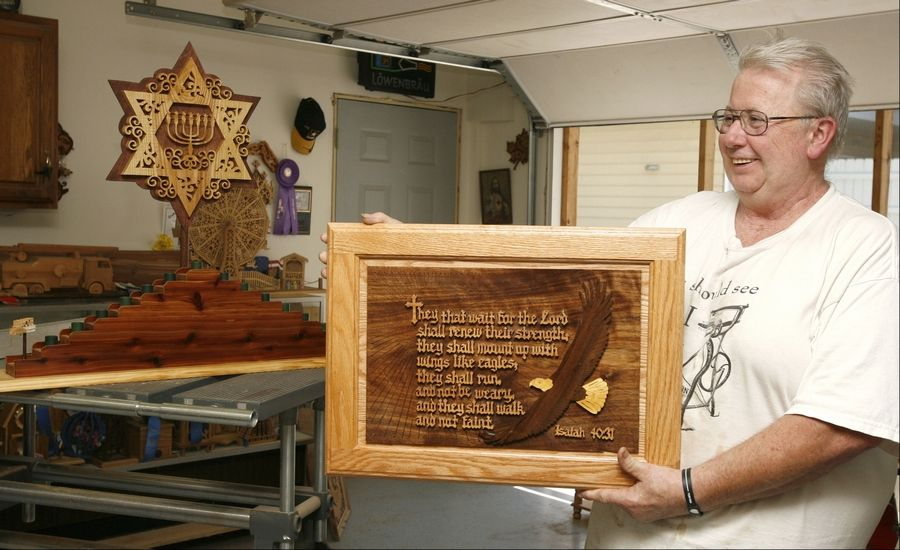 James Barry has been interested in woodworking since high school and has since turned his hobby into a competitive pastime. He was won numerous awards at the DuPage County Fair and will submit more of his pieces this year for judging.