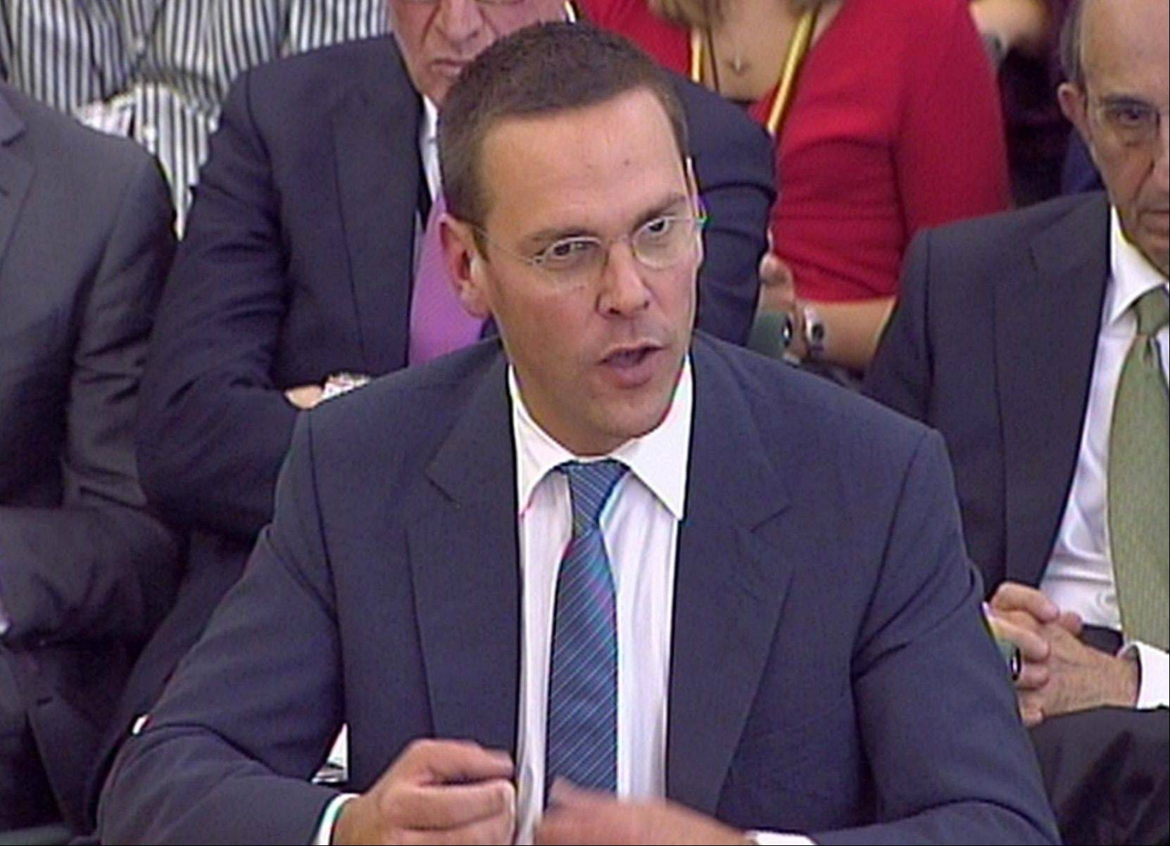 James Murdoch had said he stood by his testimony but would provide a written response to follow-up questions.