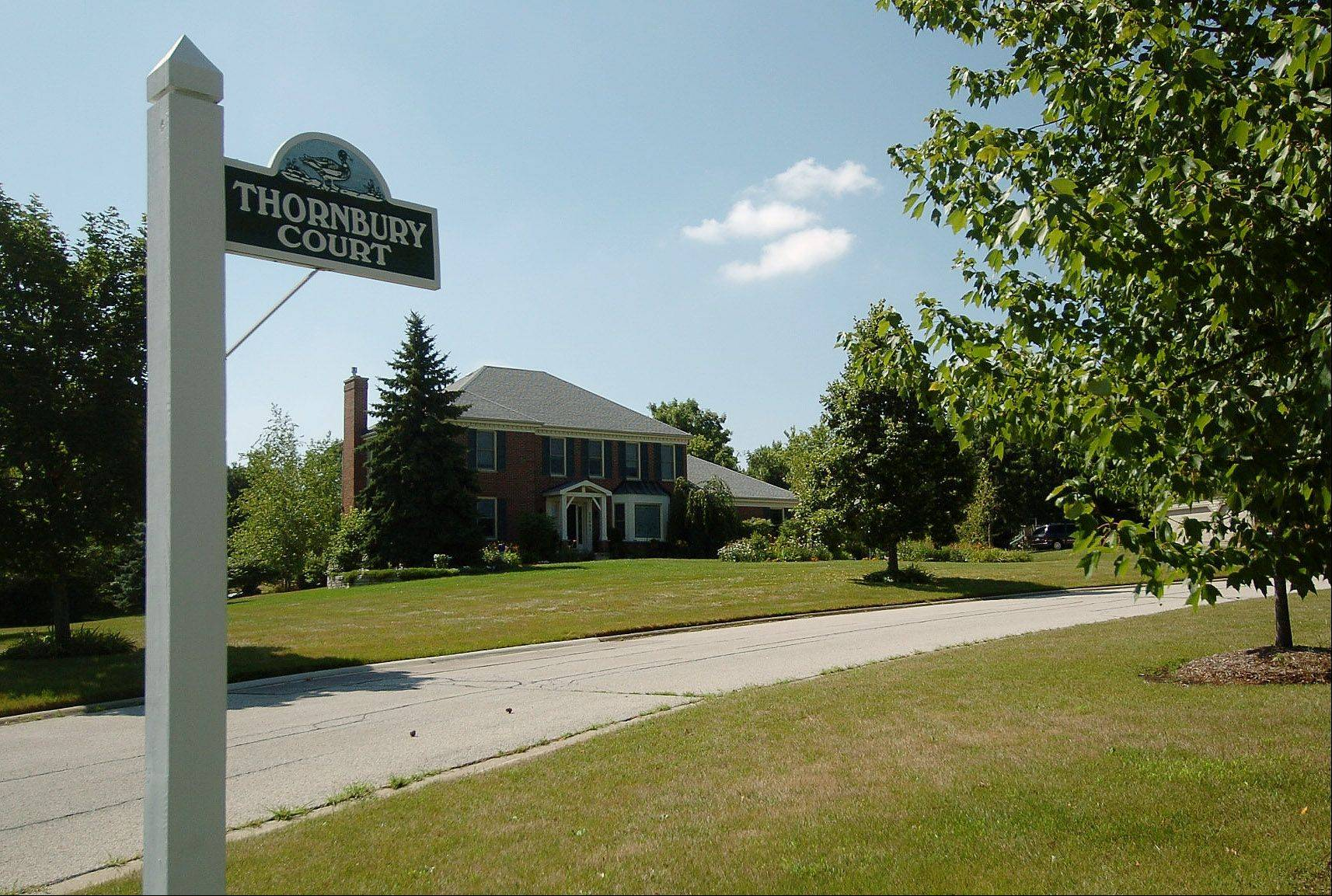 Homes along Thornbury Court in Deer Park are in the Dover Pond neighborhood, where residents enjoy open space and a more rural atmosphere.