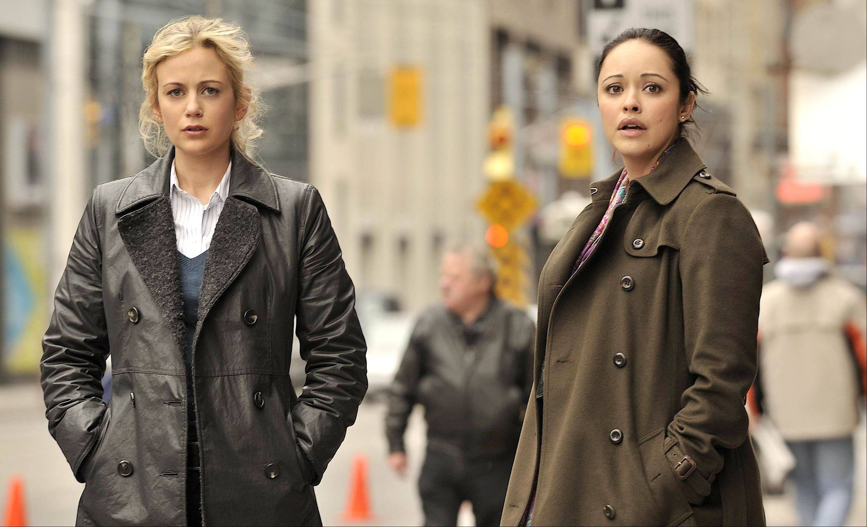 "Chicago cop Abby Kowalski (Rachel Carpani), left, gets a new partner (Marissa Ramirez) and an assignment to internal affairs in Lifetime's ""Against the Wall."""