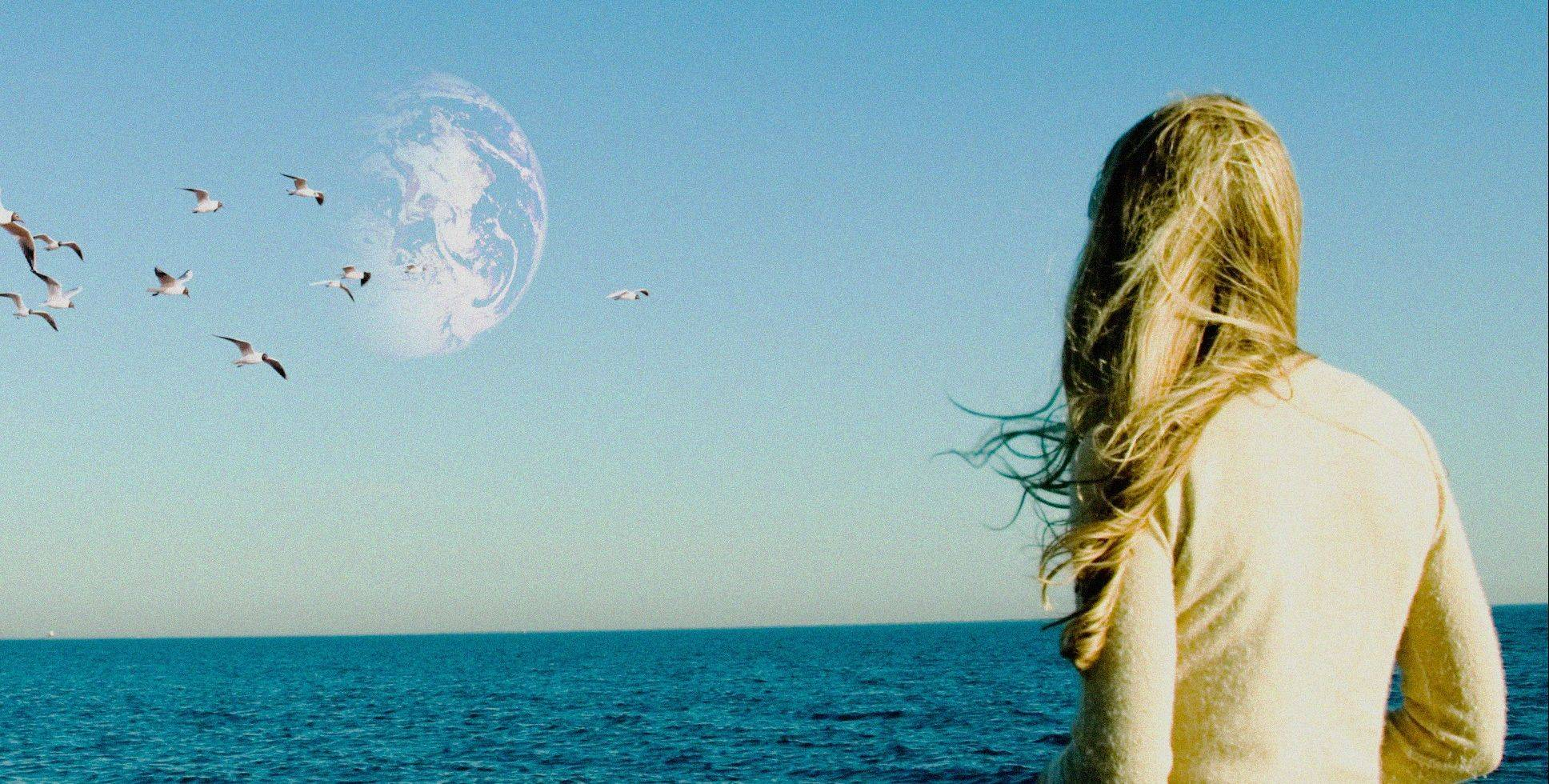 "Rhoda Williams (Brit Marling) glimpses a potentially parallel universe in ""Another Earth."""