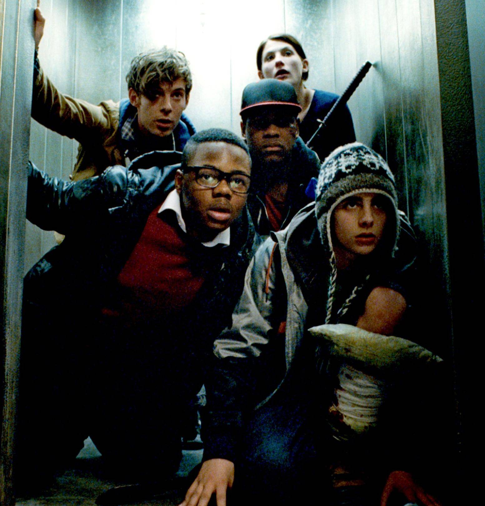 "A group of teens and a nurse must work together when aliens hit a South London housing project in ""Attack the Block."""