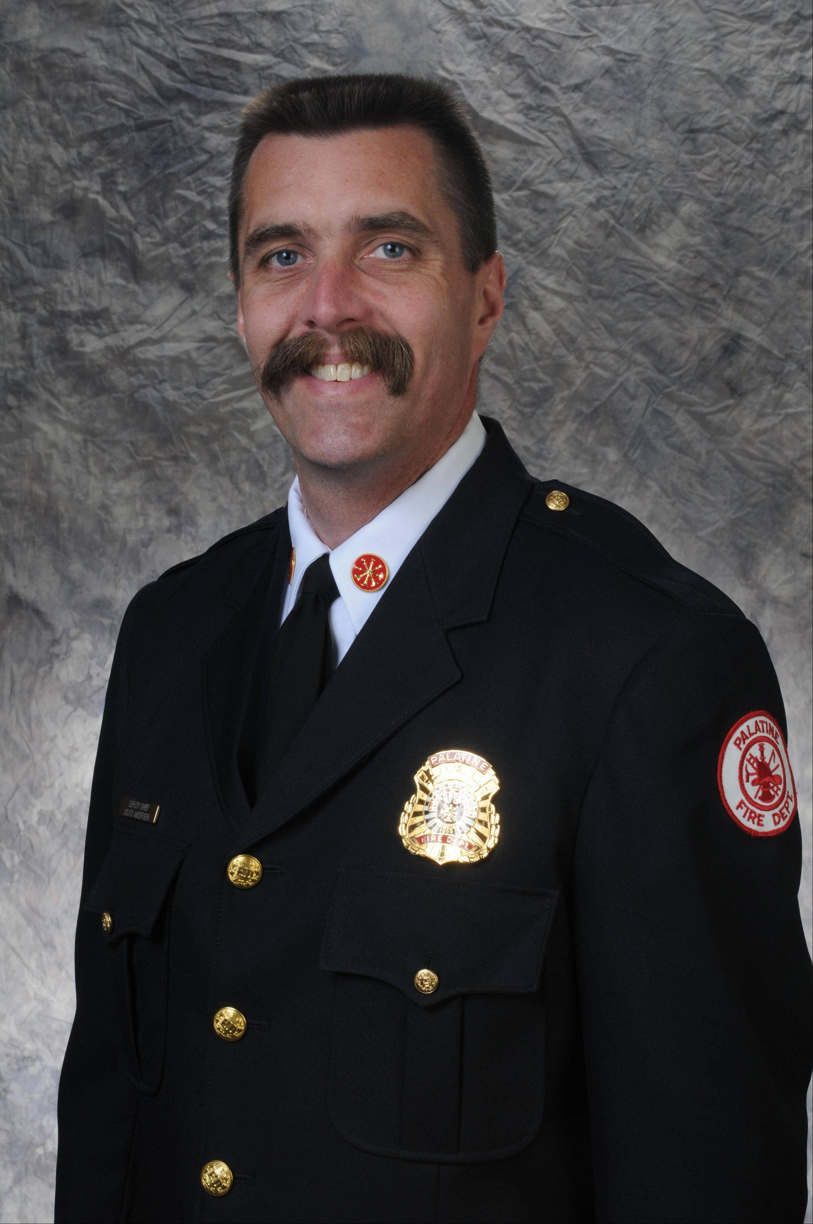 Scott Andersen will serve as Palatine�s new fire chief, succeeding Bob Falardeau. Village leaders will make the appointment official Monday night.