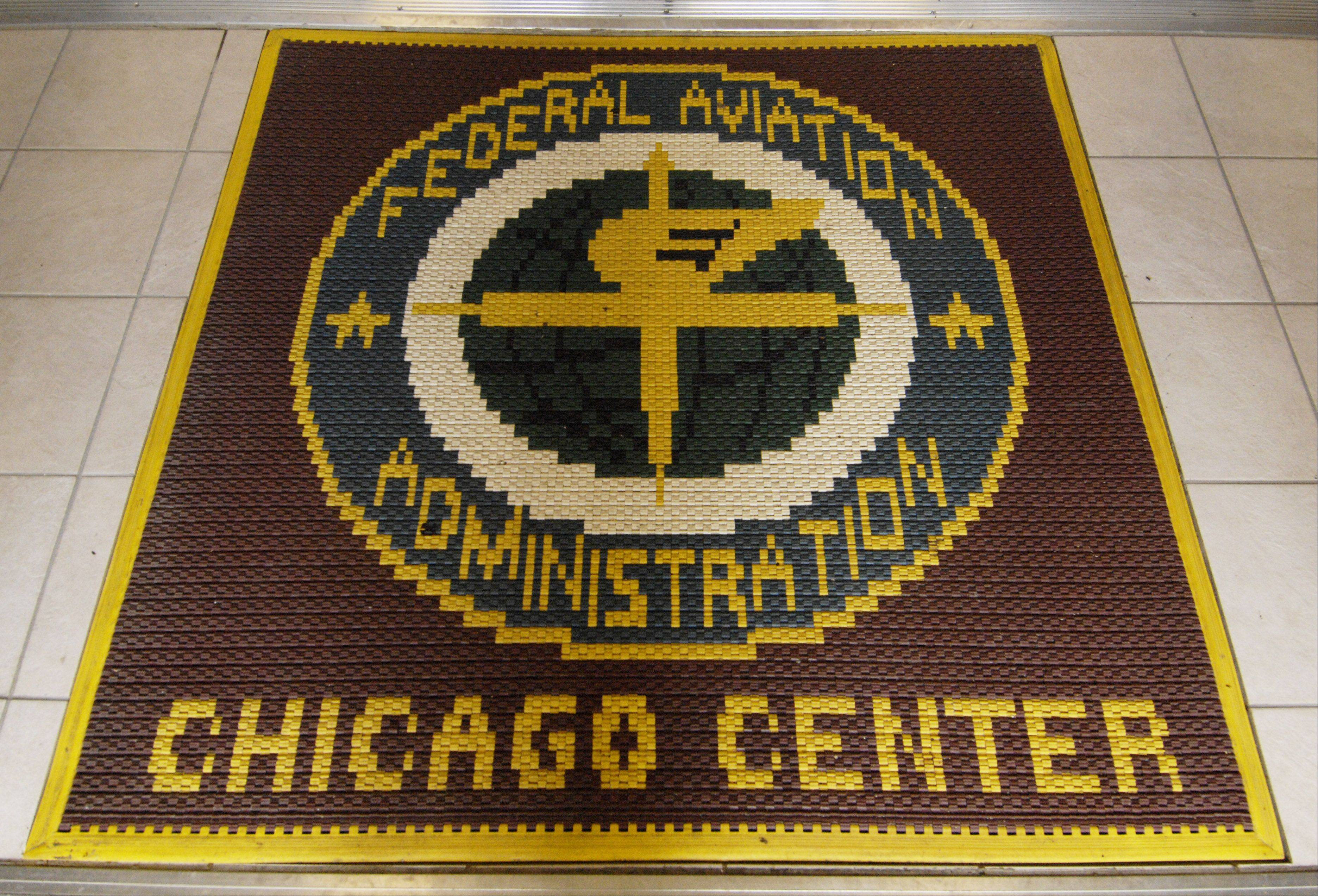 The entryway to the U.S. Department of Transportation's FAA Chicago Air Route Traffic Control Center in Aurora.