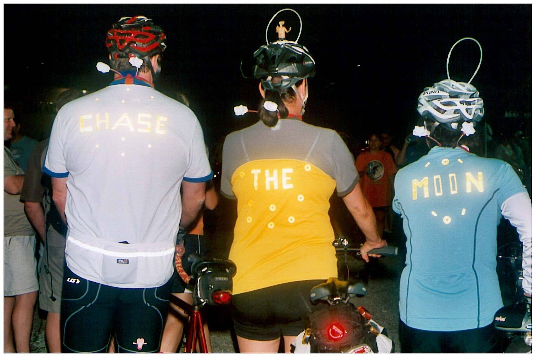 The Conservation Foundation's Chase the Moon Midnight Bike Ride starts in Warrenville and eventually weaves its way through the grounds of Fermi National Accelerator Laboratory.