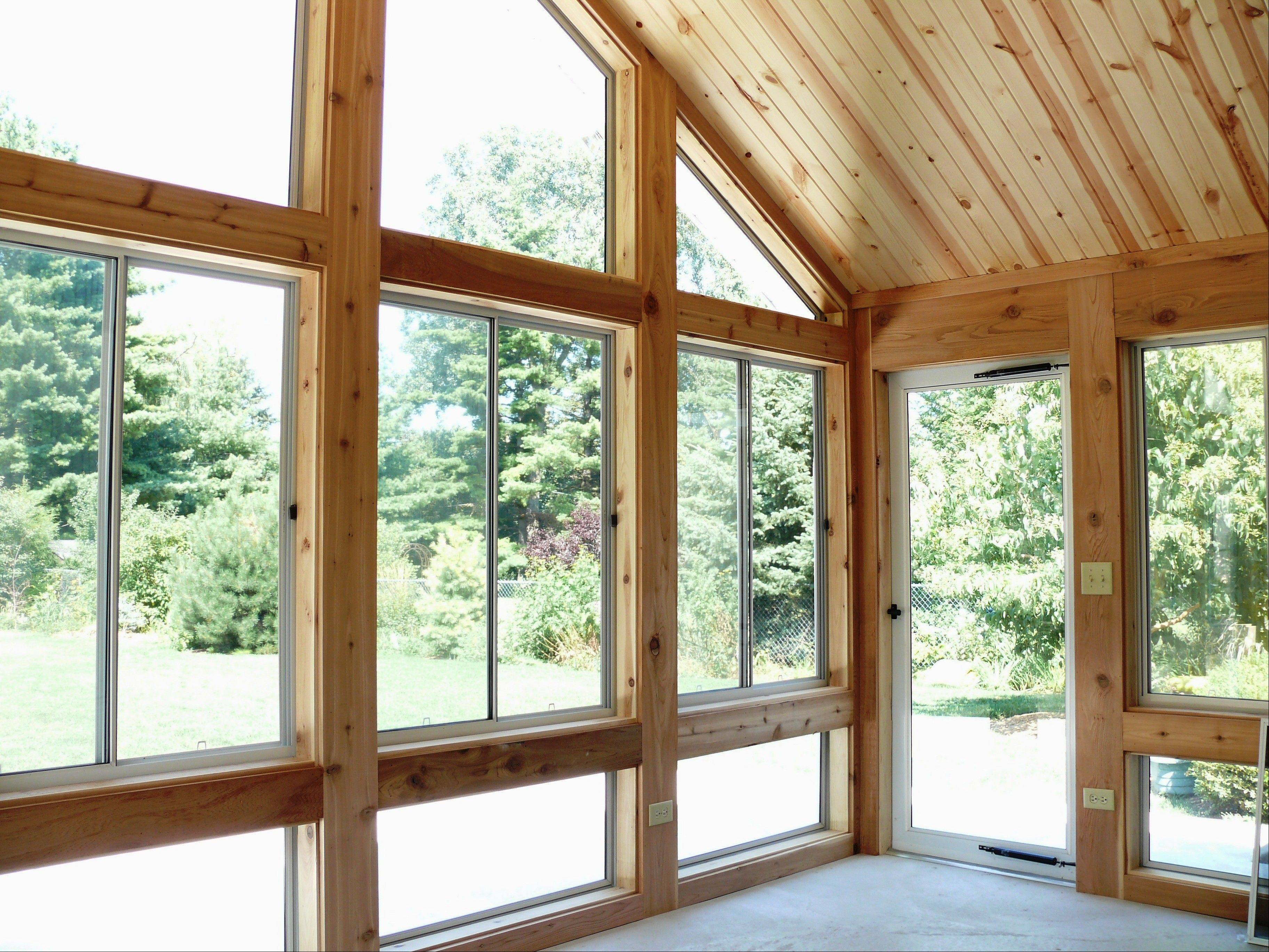 Timberbuilt sunrooms can have floor-to-ceiling, double-paned, argon-filled windows that are energy efficient.