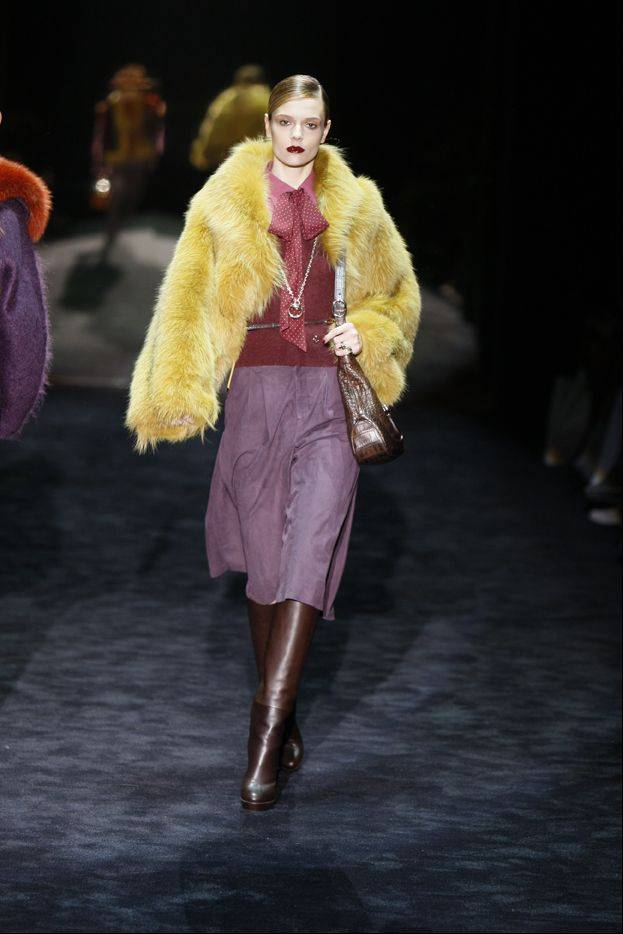 A fur coat designed by Gucci is modeled for the presentation of Gucci's 2011 Fall/Winter collection. Women's tastes are becoming more refined and younger customers are warming up to fur amid efforts to market pelts as more humane products.