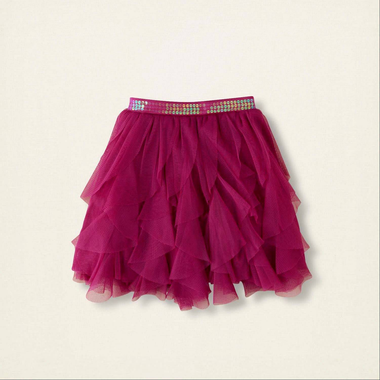 Aa tiered sequin skirt from The Children's Place.