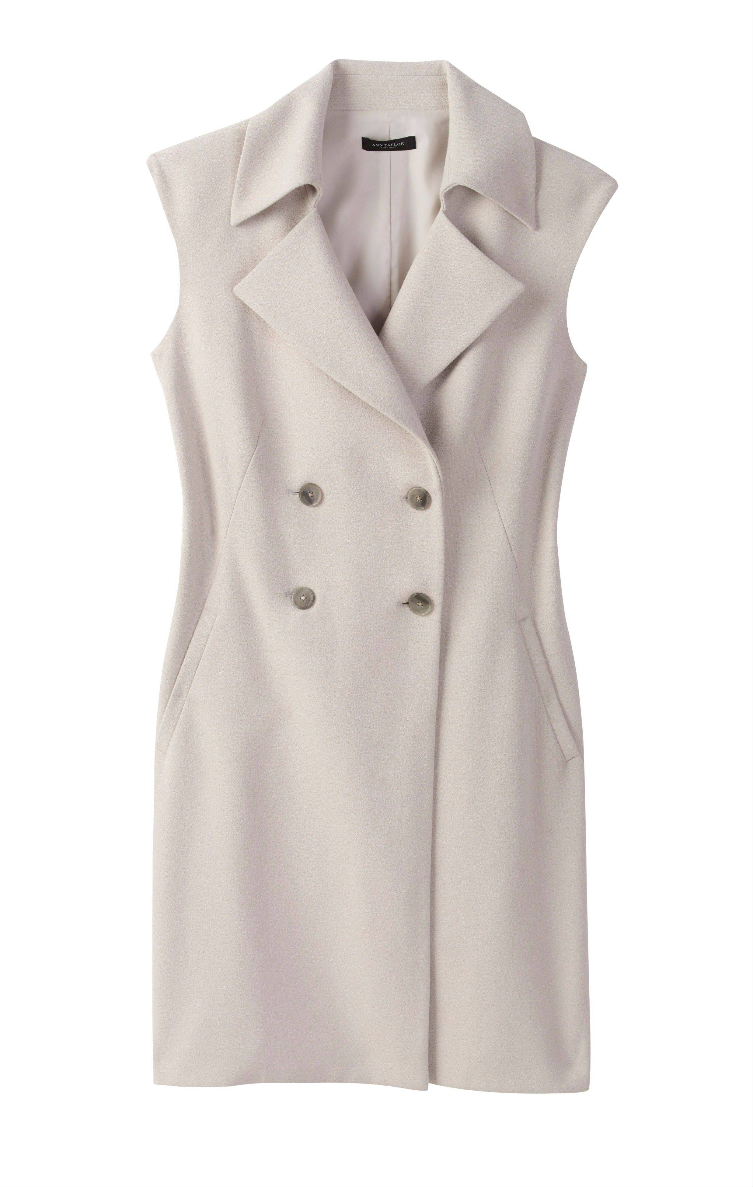 An Ann Taylor sleeveless trench.