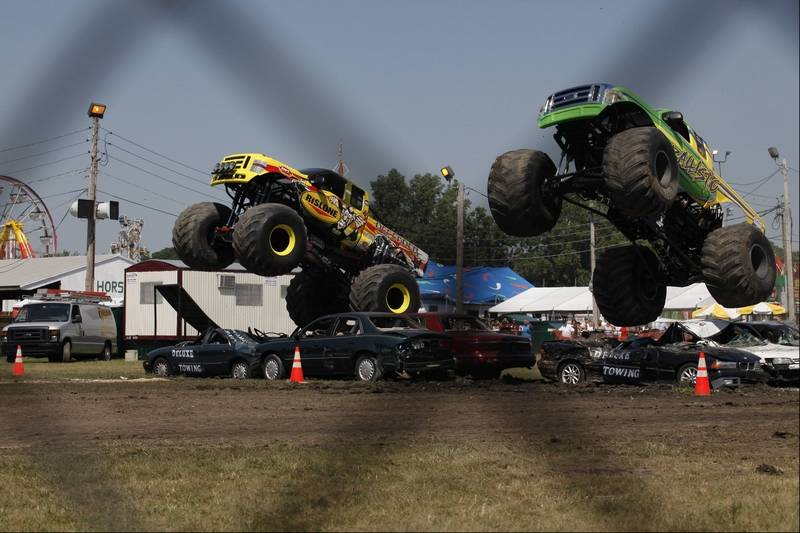 Monster Trucks Excite Dupage Fair Crowds