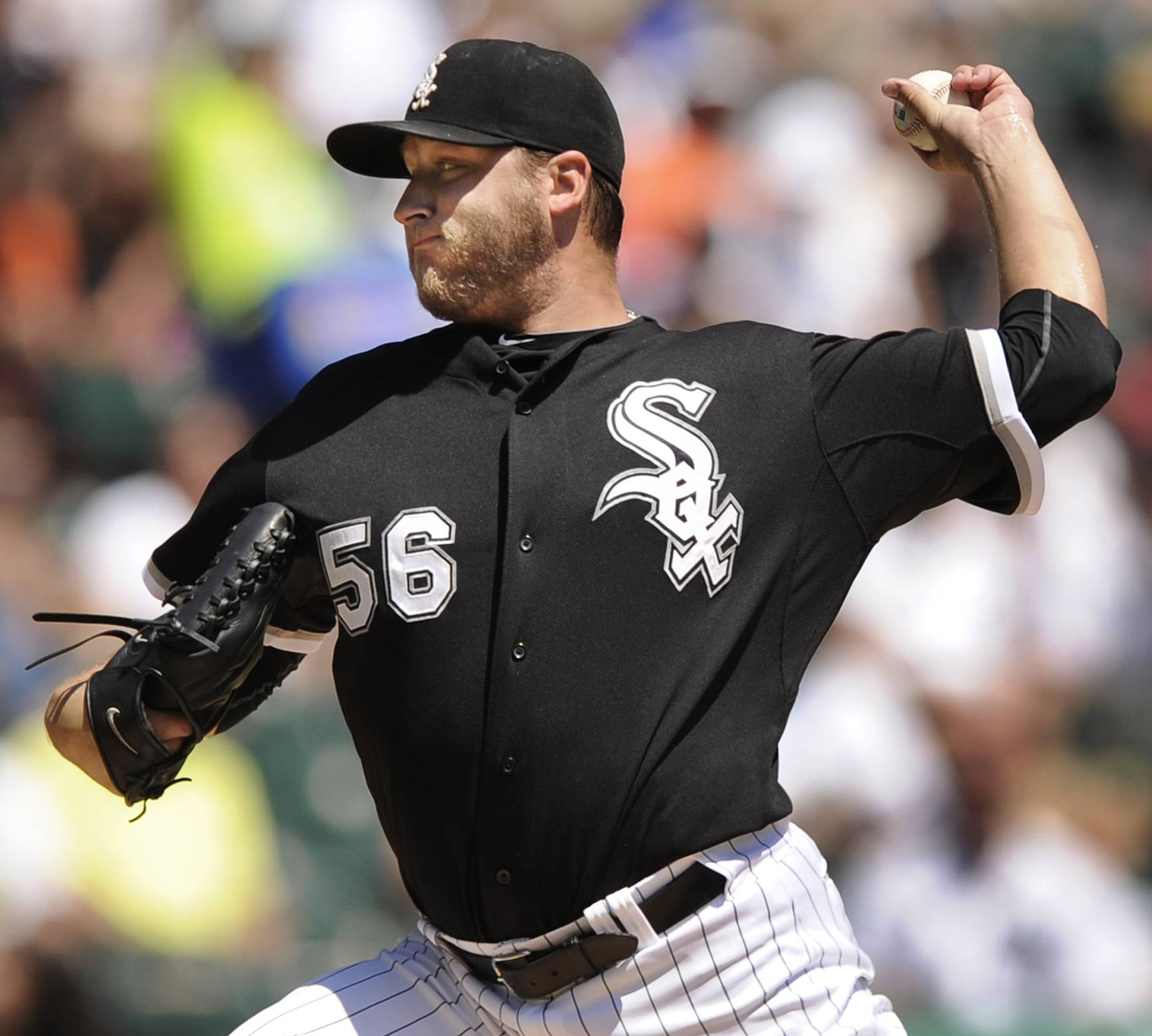 Chicago White Sox starter Mark Buehrle delivers a pitch Sunday against the Boston Red Sox during the first inning in Chicago.