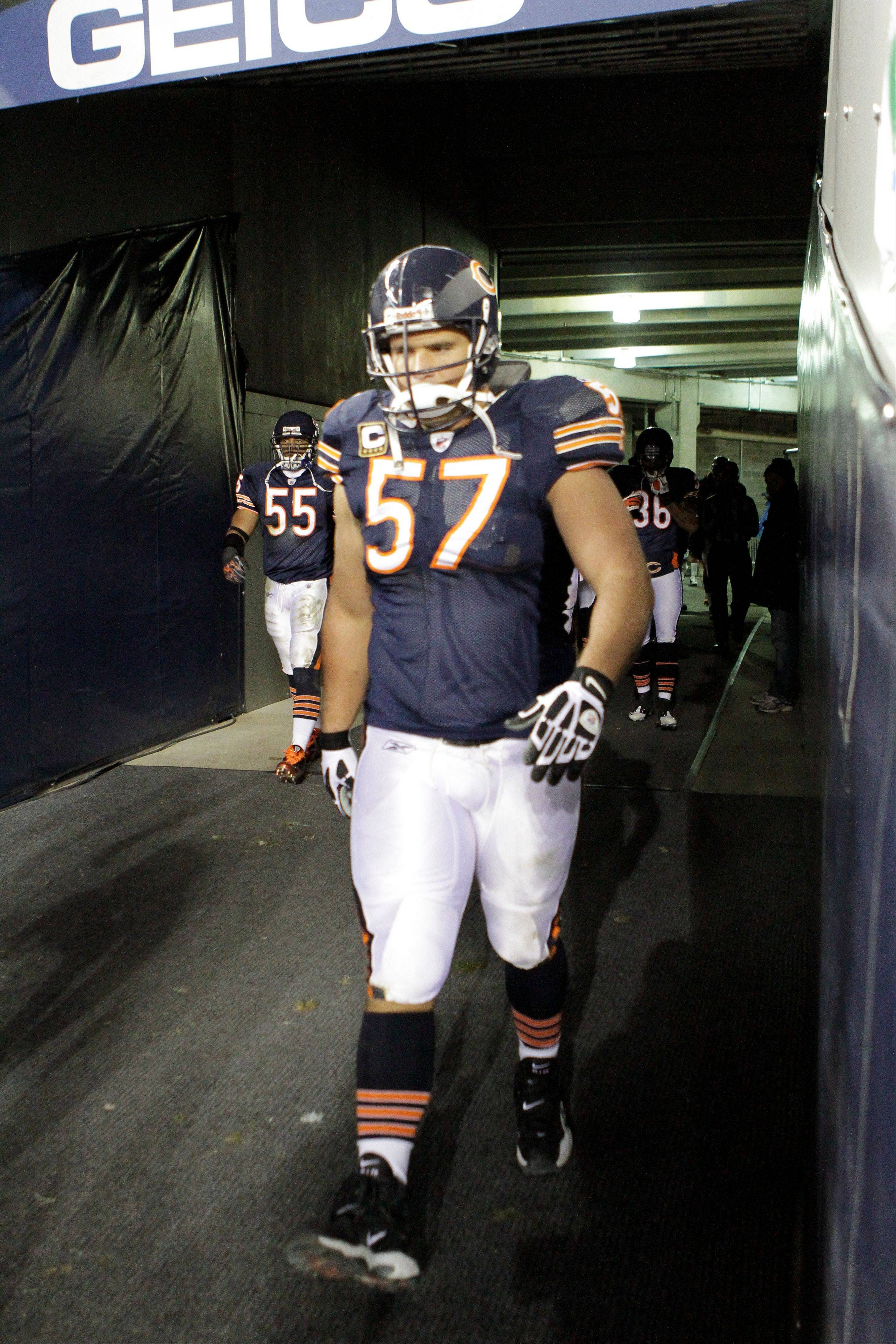 The Bears have said goodbye to veteran center Olin Kreutz, who had started 134 consecutive games for the team.
