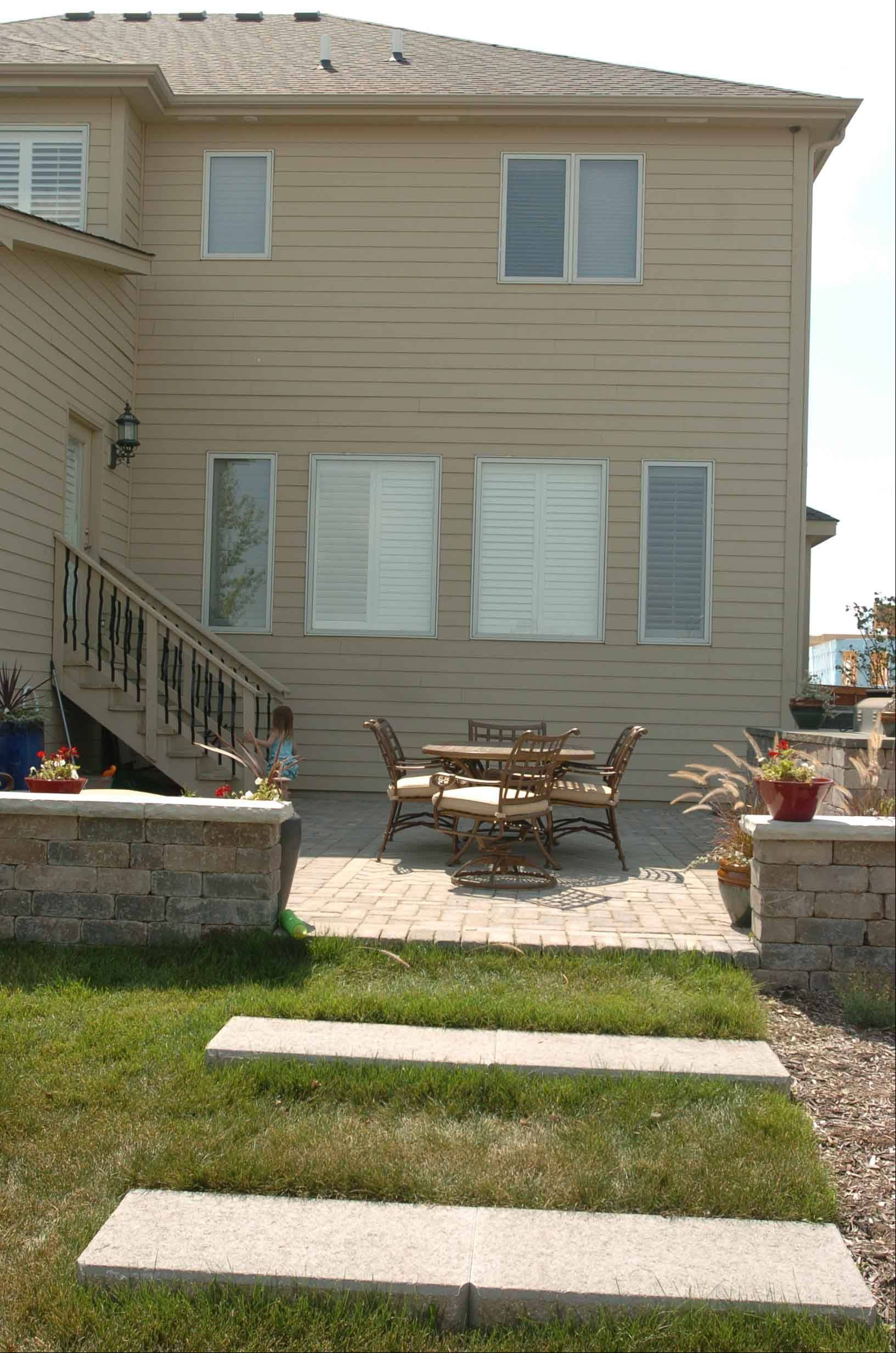 Here is one of the new patios at the Jakovich home in Plainfield.