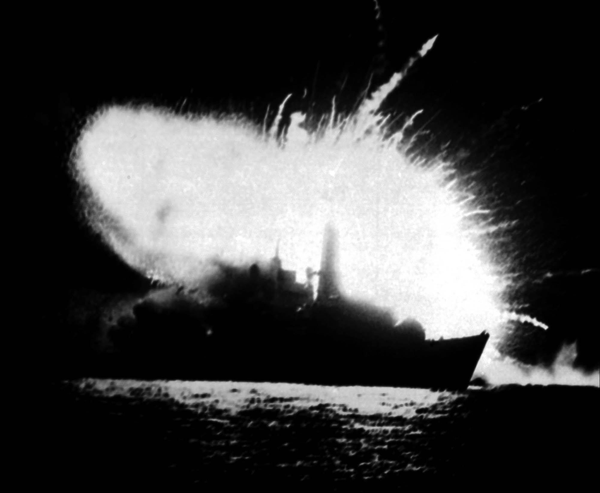 The British frigate HMS Antelope explodes in San Carlos Bay during the war over the Falkland Islands, ruled by Britain and claimed by Argentina. The 10-week conflict killed 712 Argentines, 255 Britons and three islanders. A U.N. committee on decolonization wants Britain and Argentina to negotiate over the islands, but Britain says it's up to the islanders to decide their future.