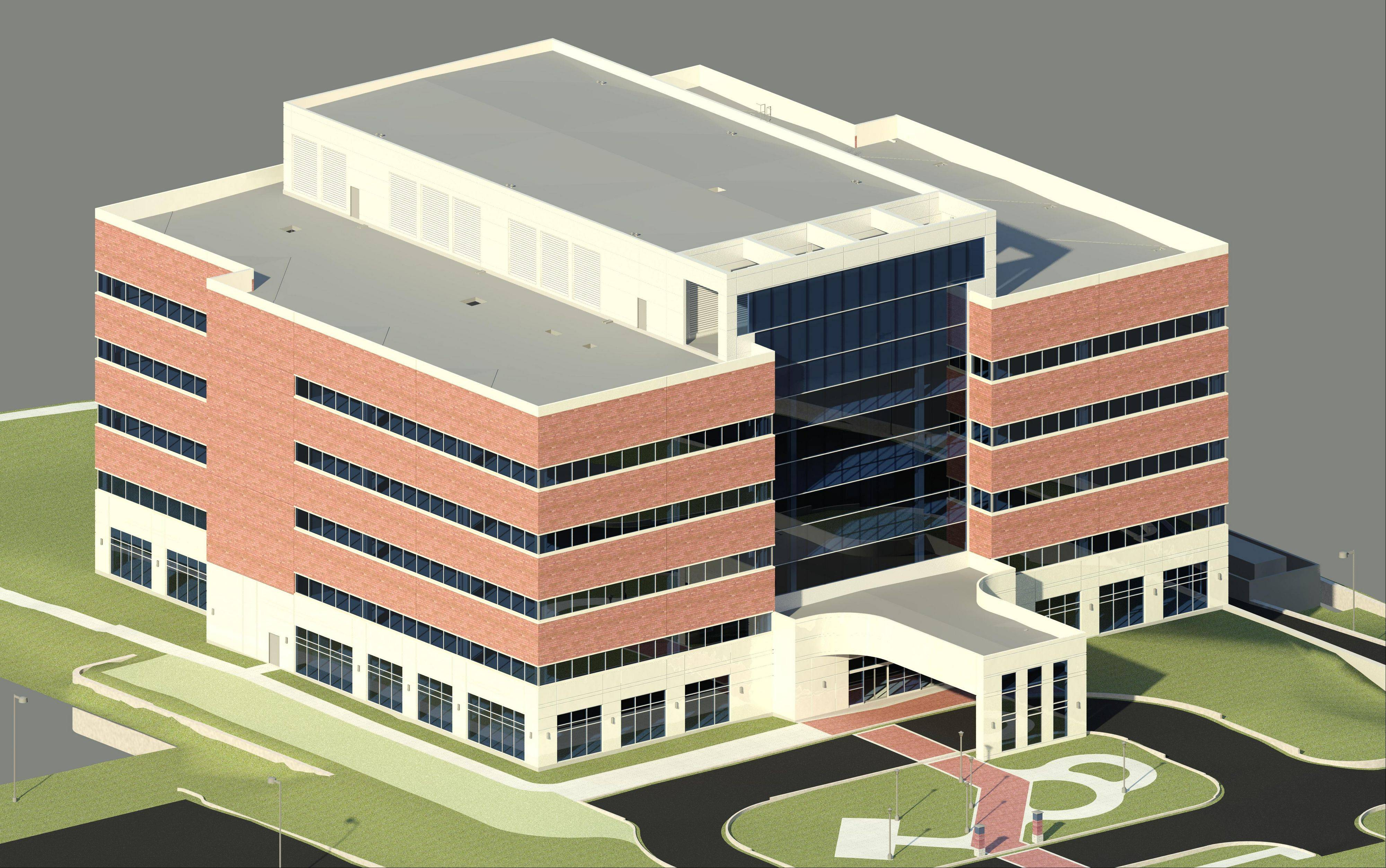 An artist rendering shows the new Midwestern University's dental clinic, which aims to provide low-cost dental services to patients starting in 2013.