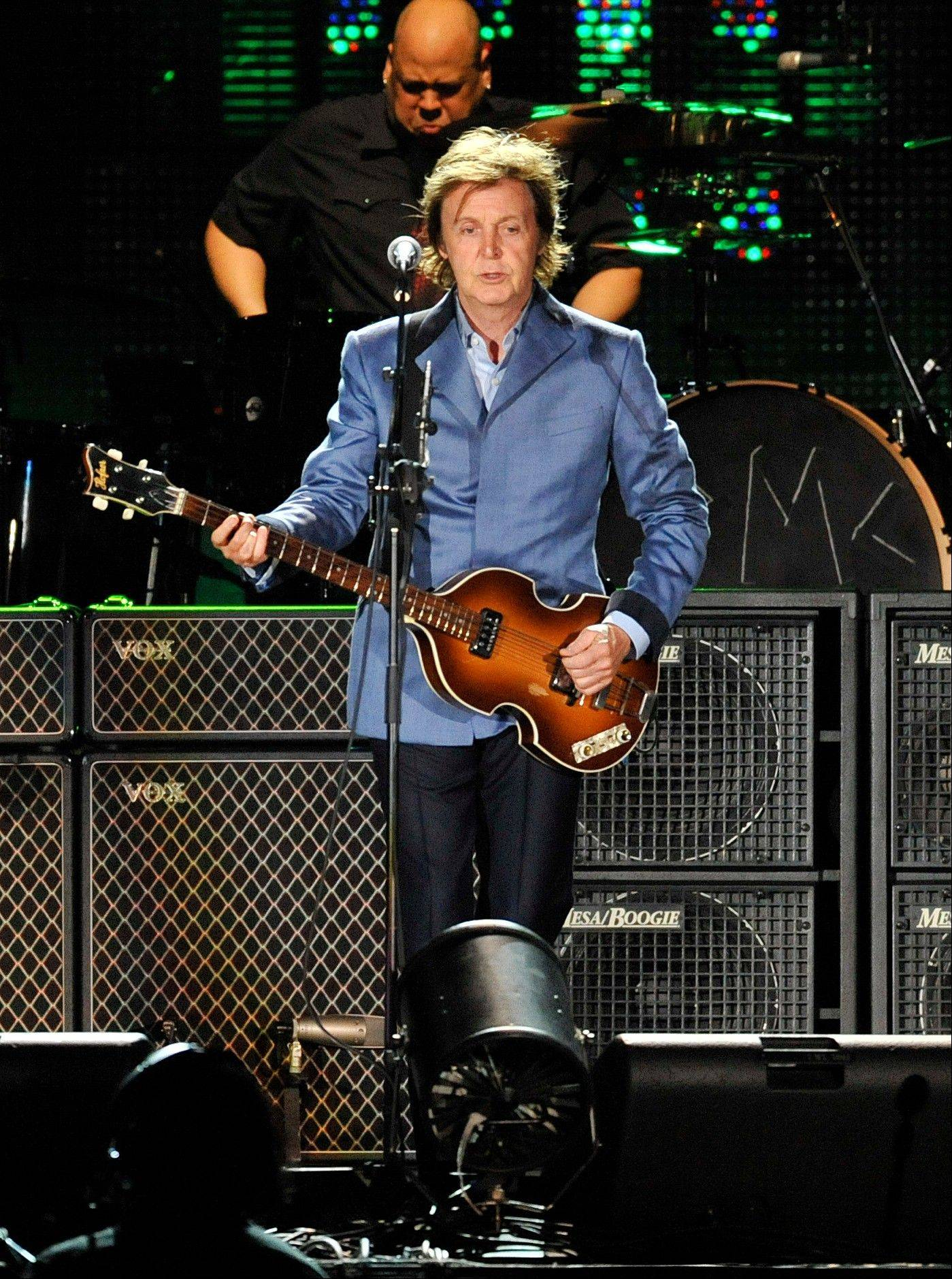 Paul McCartney performs at Wrigley Field, Sunday, July 31, 2011 in Chicago.