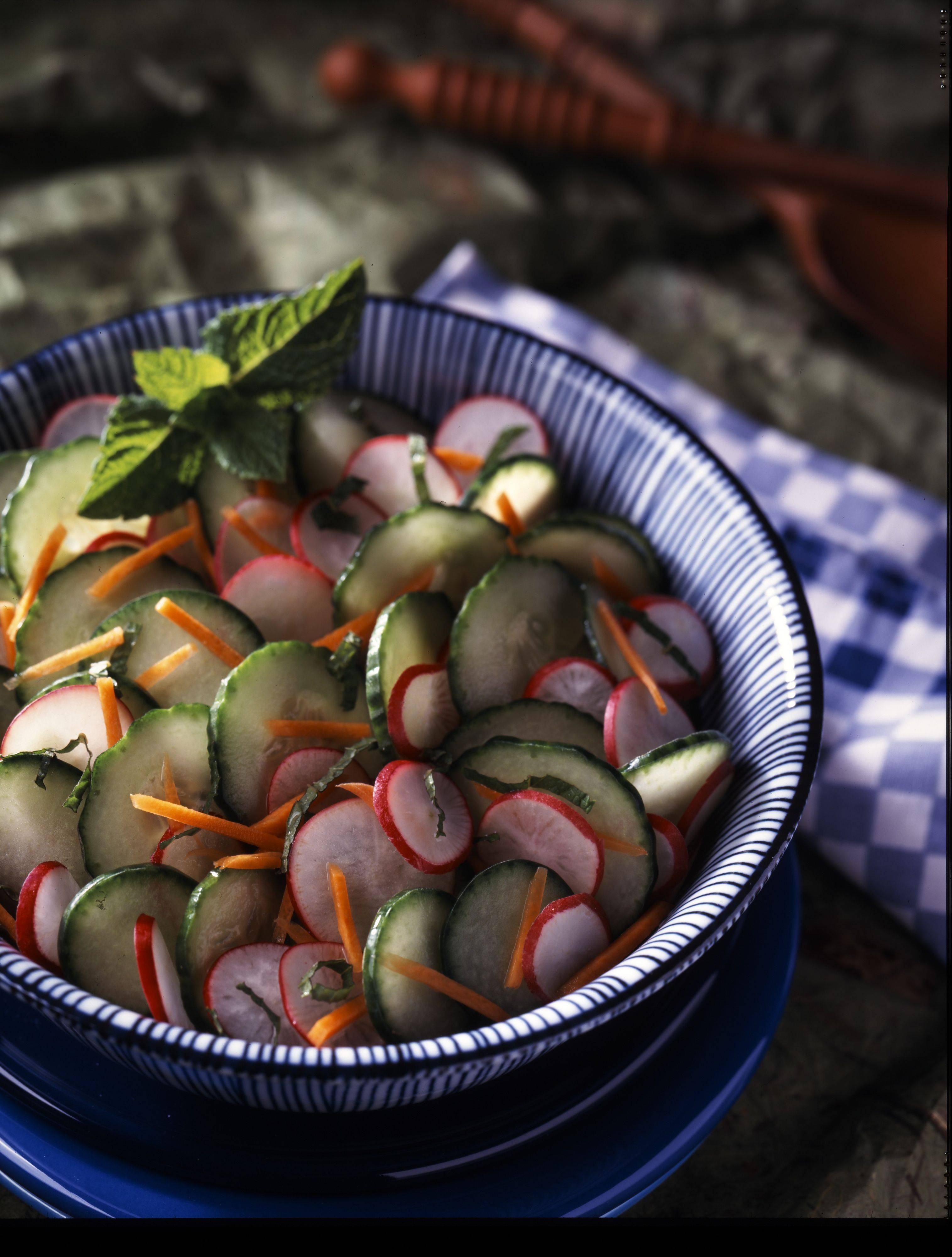 Cucumber and Radish Salad with Mint