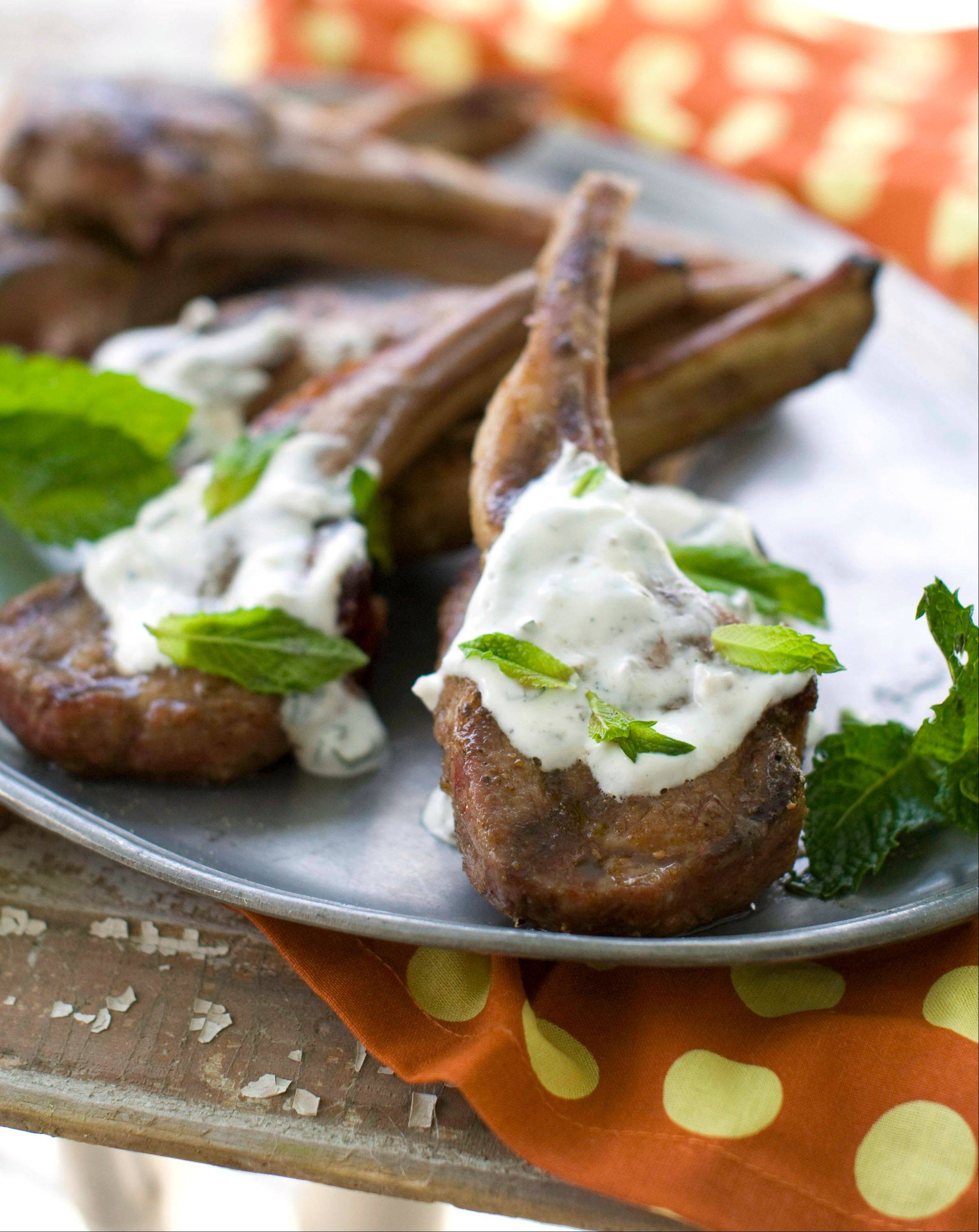 This recipe for Lamb with Mint Yogurt Sauce calls for stovetop cooking, but these chops could just as easily be tossed on the grill.