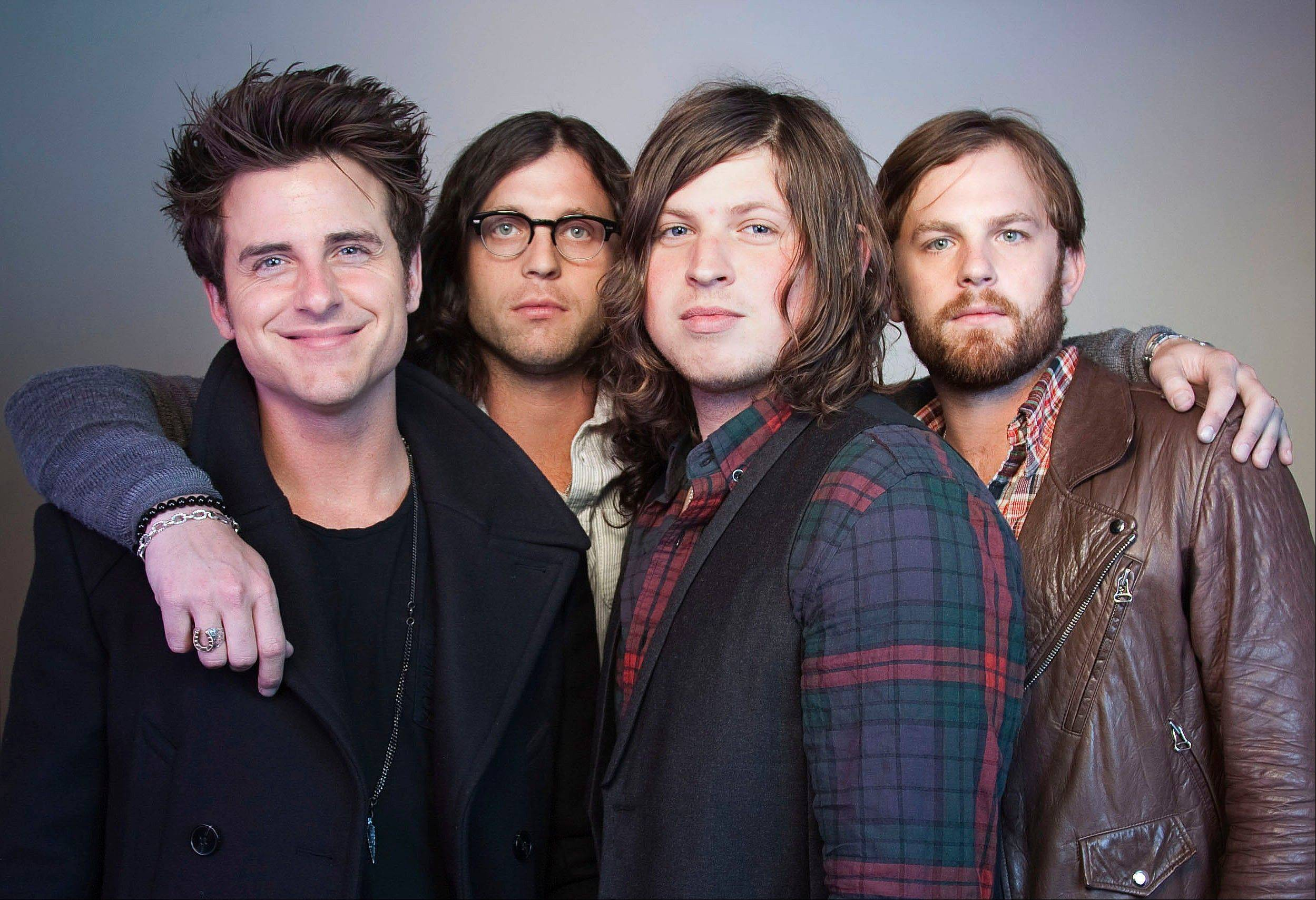 Members of Kings of Leon Jared Followill, left, Nathan Followill, Matthew Followill and Caleb Followill have canceled the rest of the band's U.S. tour.