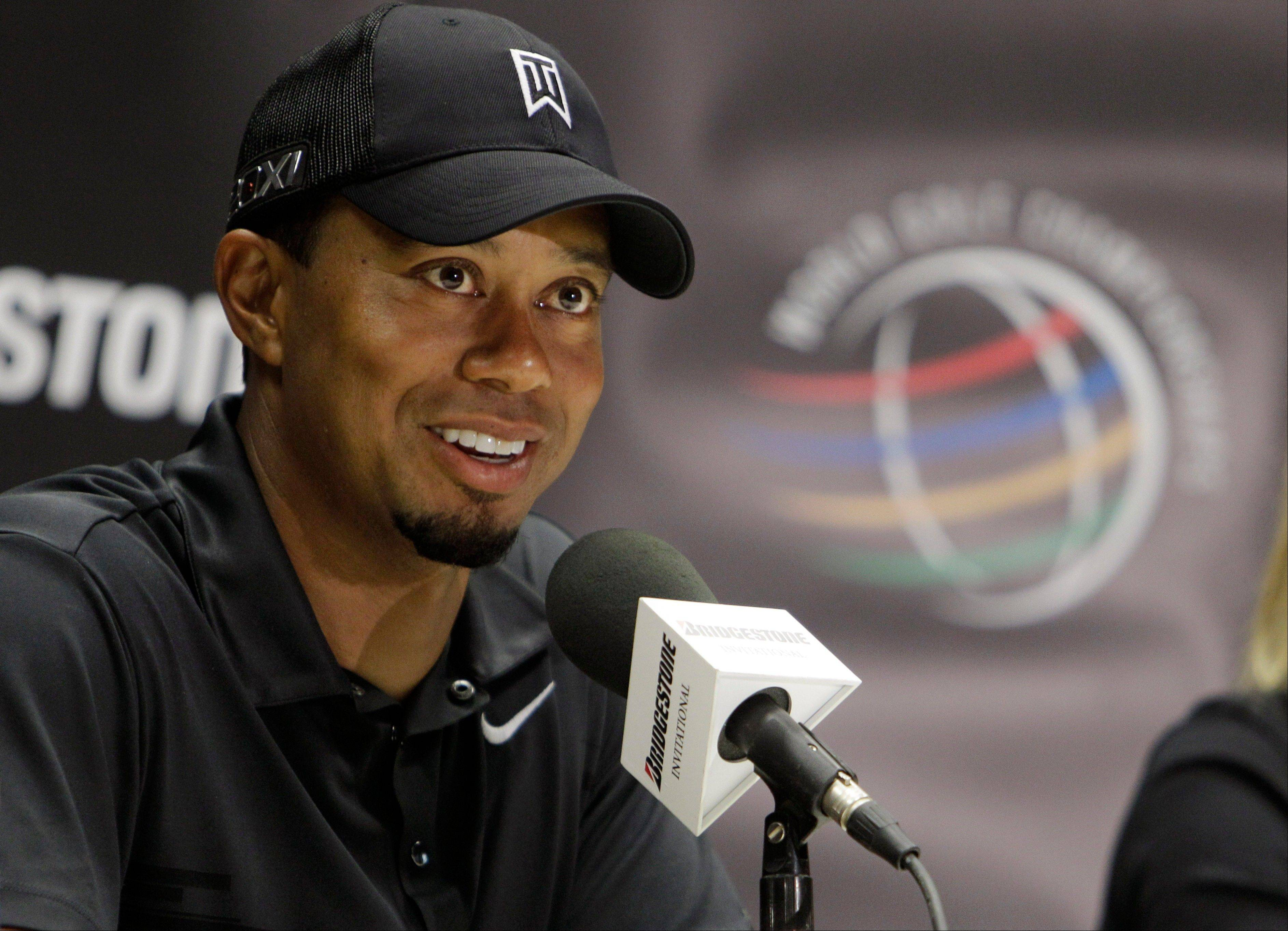 Tiger Woods returns to play in Thursday's opening round of the Bridg