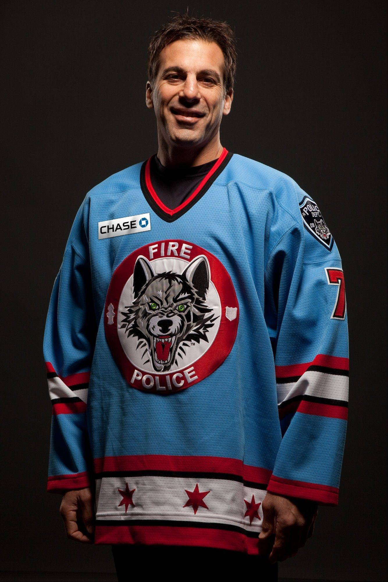 Chris Chelios playing for the Wolves at Allstate Arena on Friday, Oct. 23, 2009.