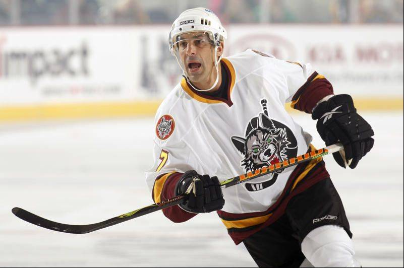 Chris Chelios plays for the Wolves at ALlstate Arena on Friday, Oct. 23, 2009.