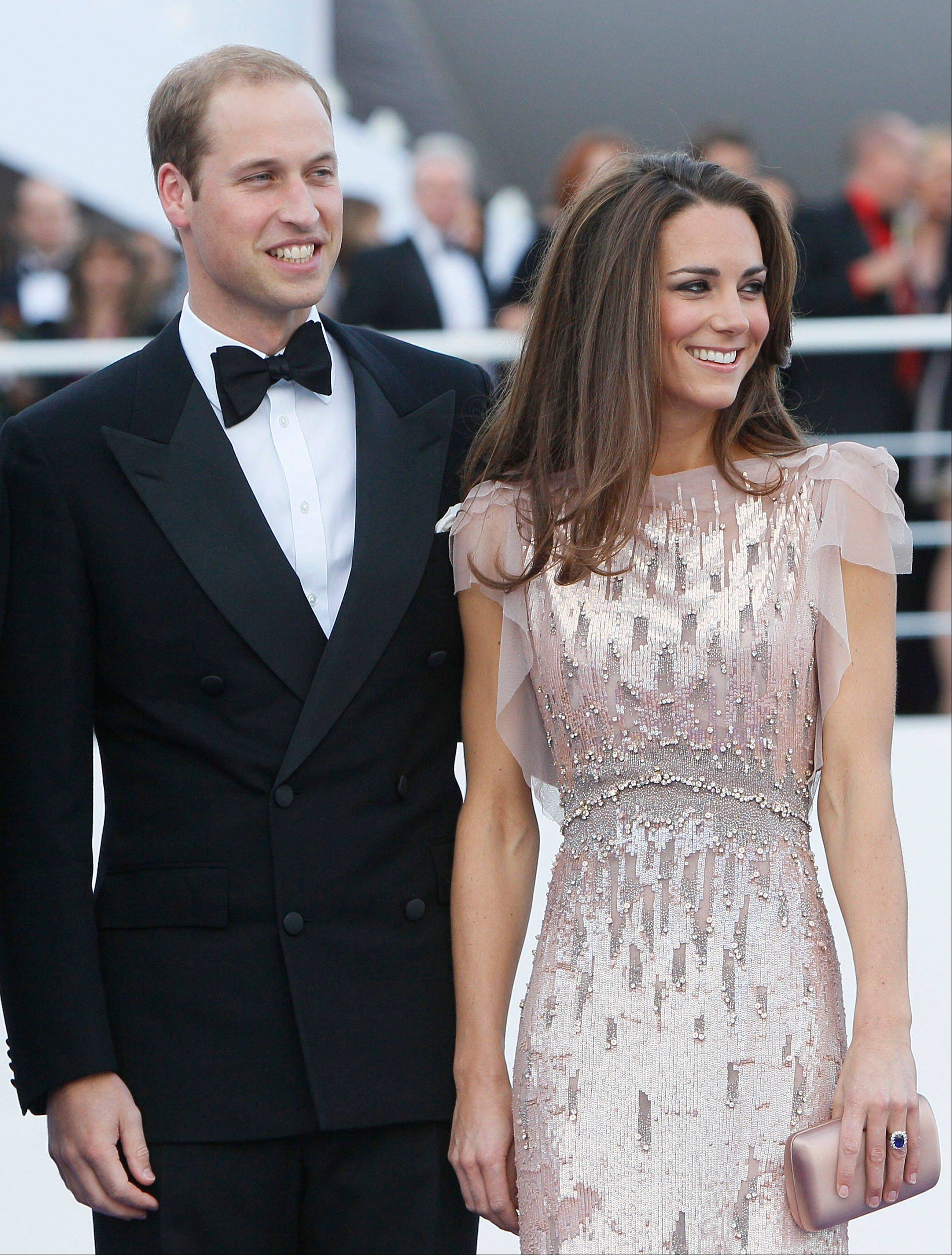 Britain's Prince William, the Duke of Cambridge, and his wife Kate, Duchess of Cambridge, who has been named on the latest Vanity Fair International Best Dressed List.