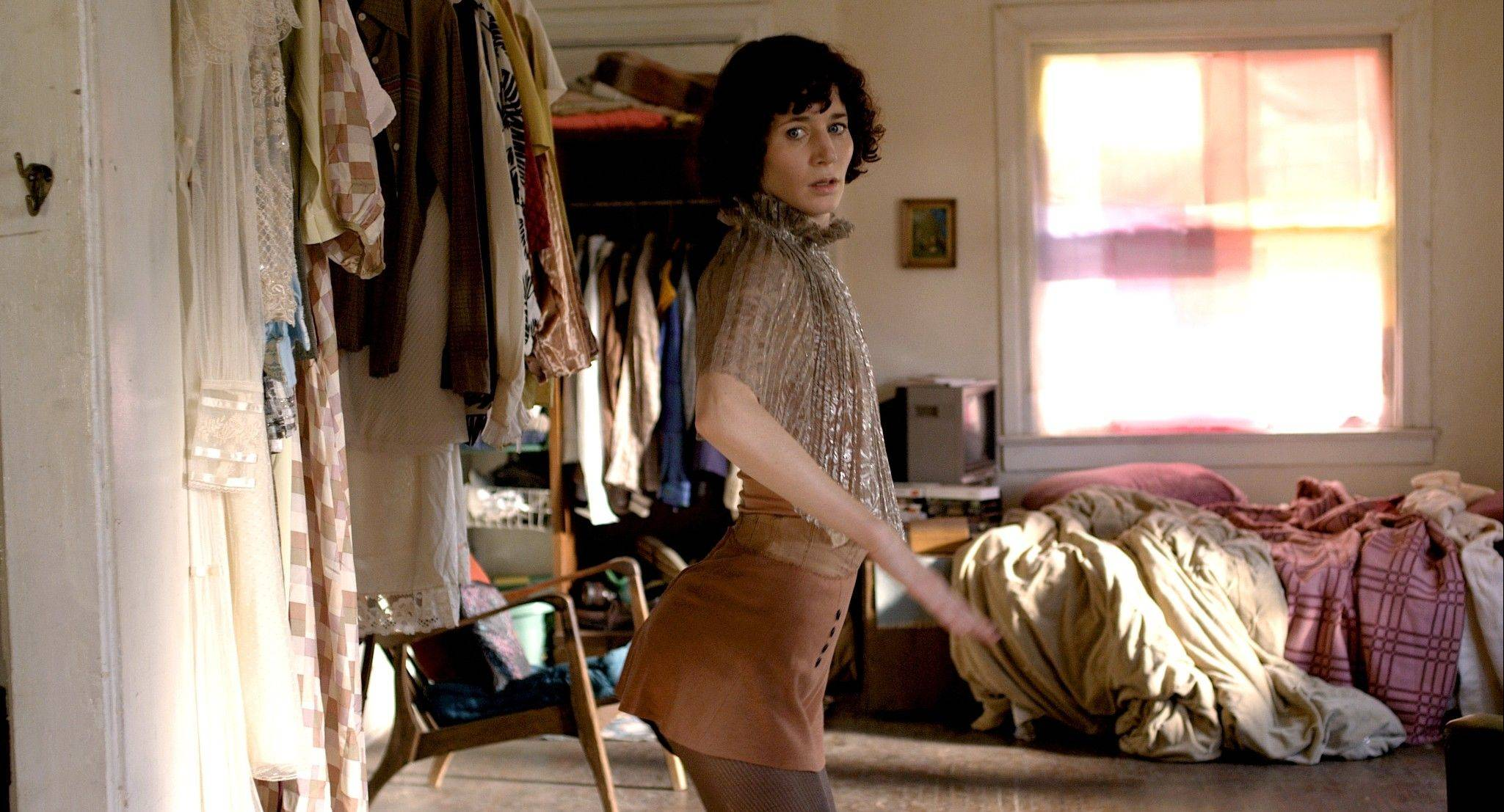 "Sophie (director/writer Miranda July) practices some fancy dance moves in her surreal drama ""The Future."""