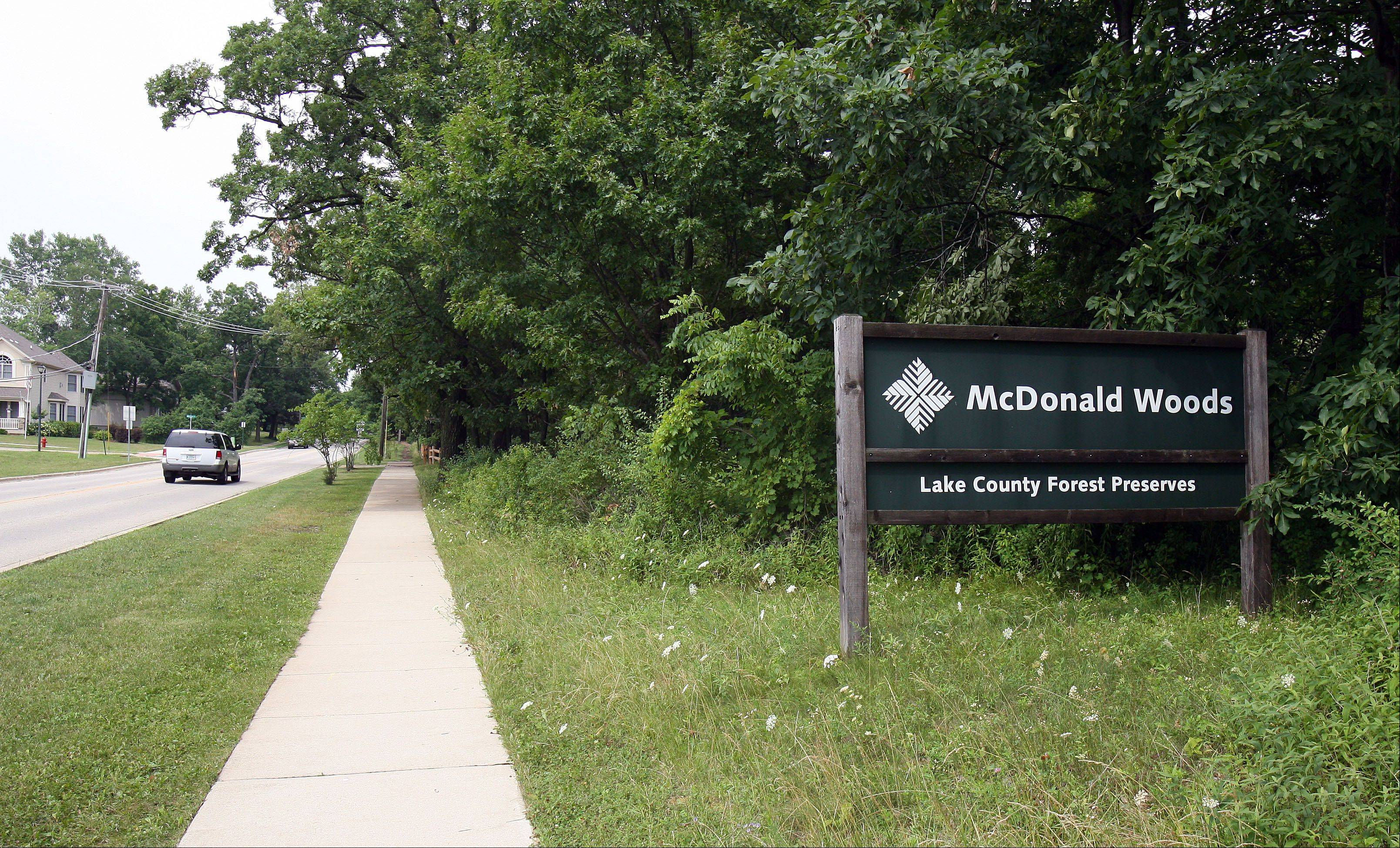 McDonalds Woods forest preserve near The Preserves in Lindenhurst.