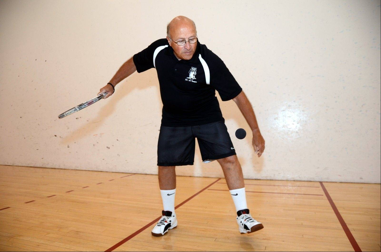 Art Michaely, 71, of Des Plaines, usually plays racquetball several times a week.