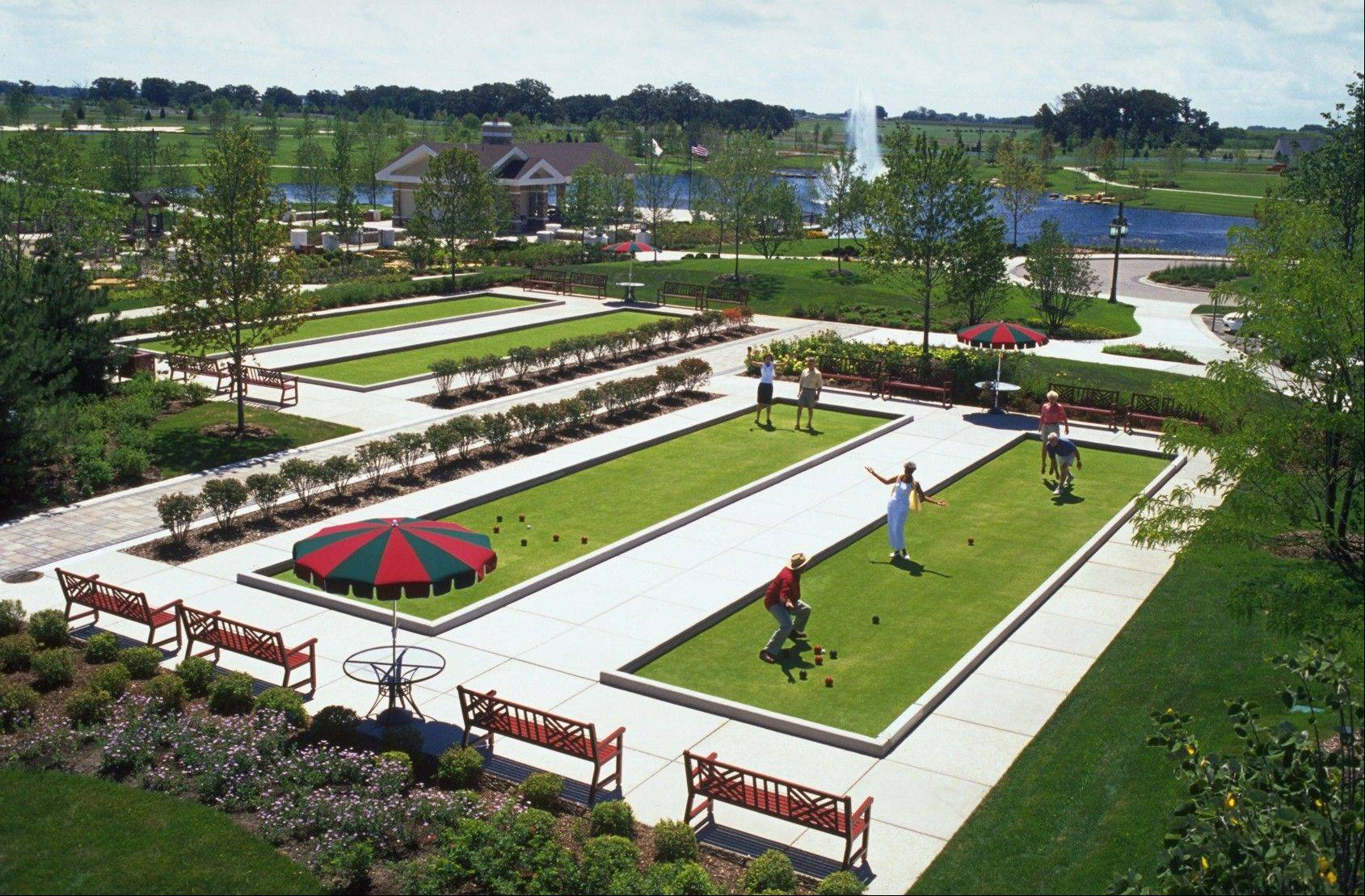 Sun City in Huntley offers many options to keep active, including boccie courts.
