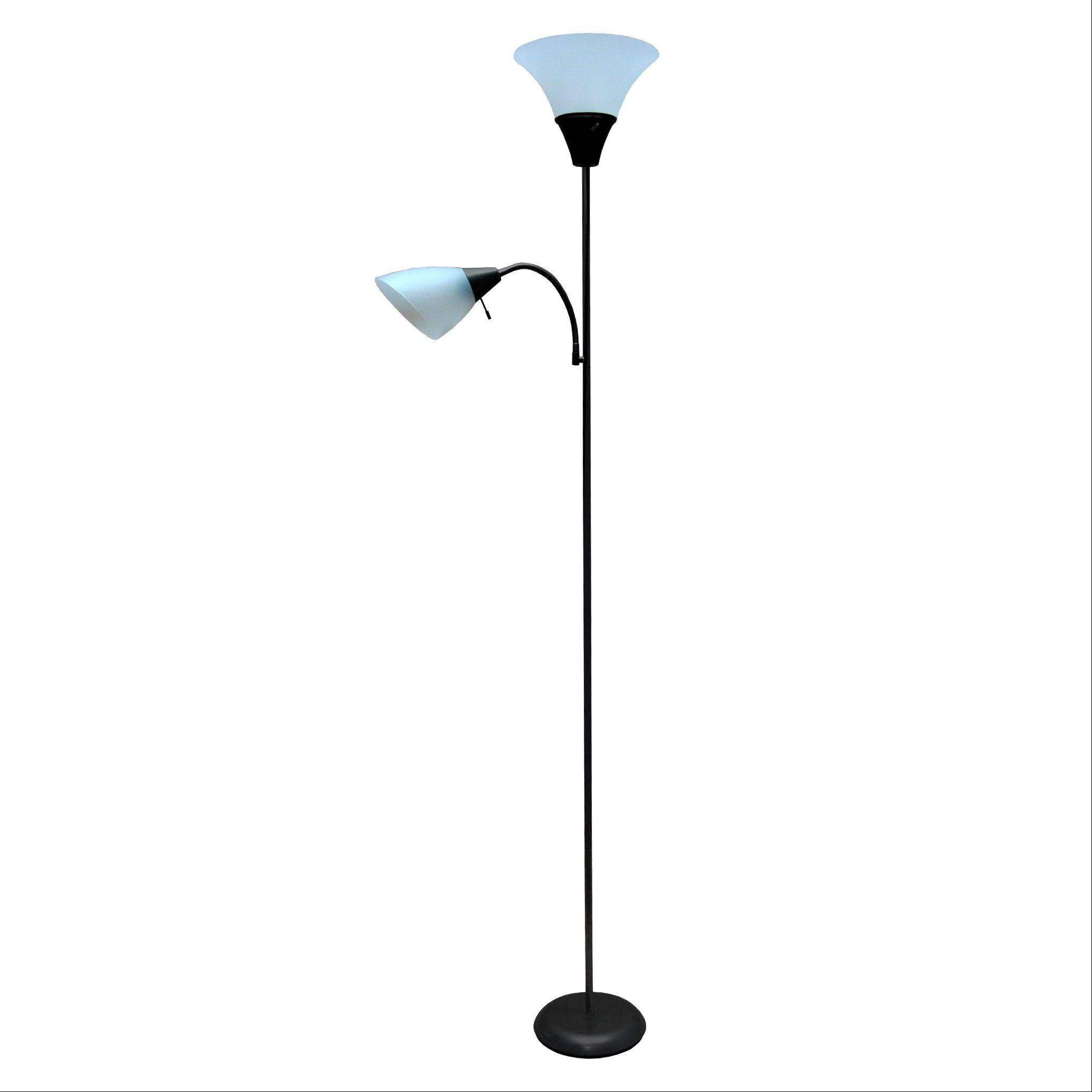 Targetu0027s Black Floor Lamp With Torch And Task Lights Is $22.49. It Is  Available At Part 81