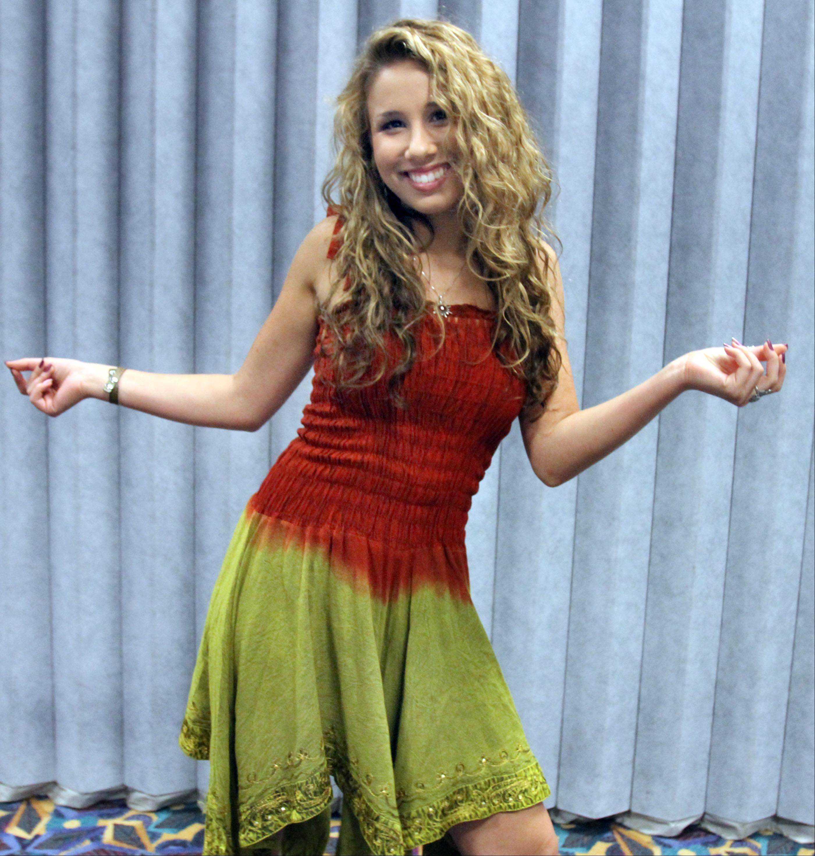 Haley Reinhart during an interview before the American Idol concert at Allstate Arena in Rosemont on Saturday.