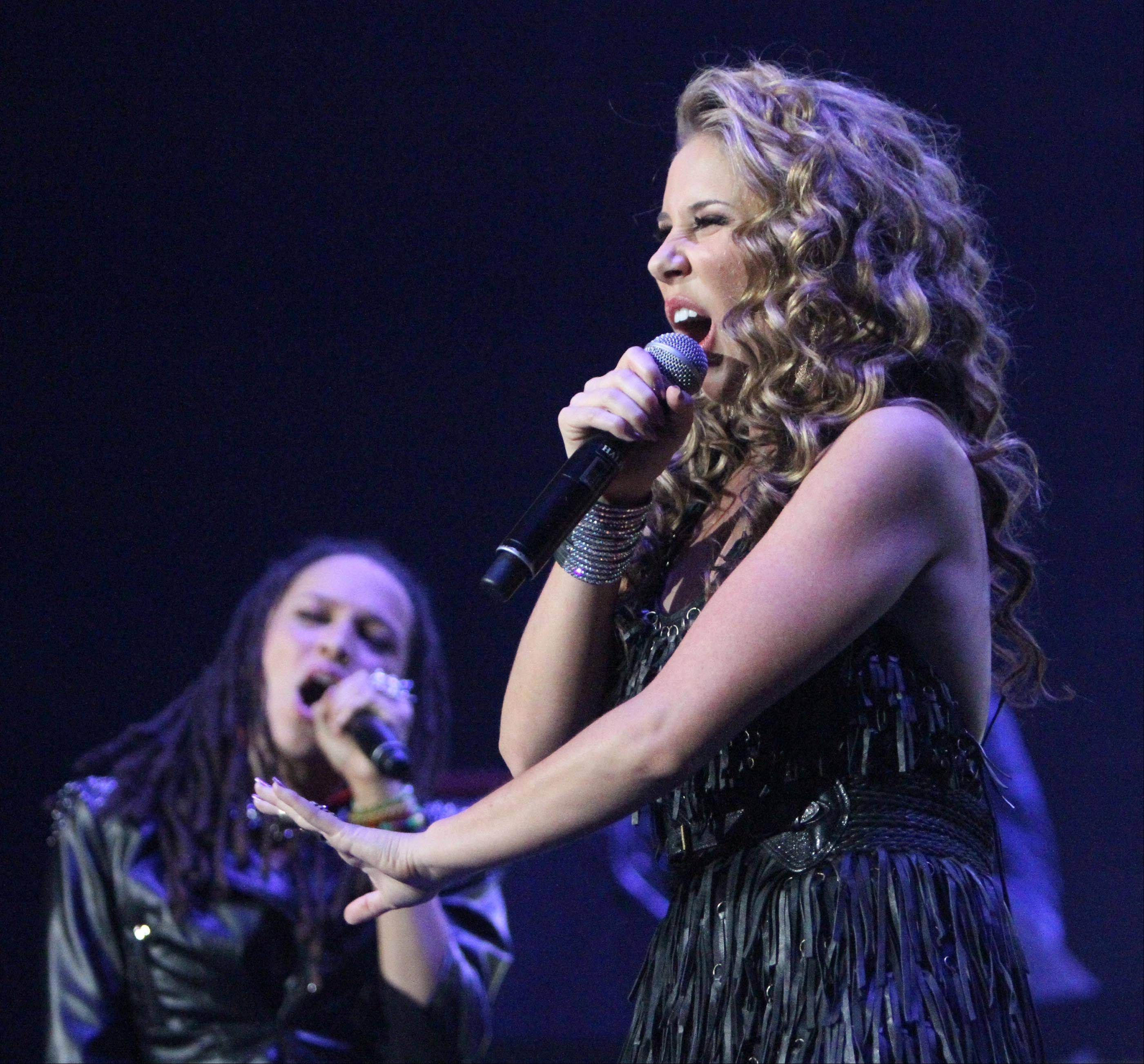 Haley Reinhart performs during the American Idol concert.