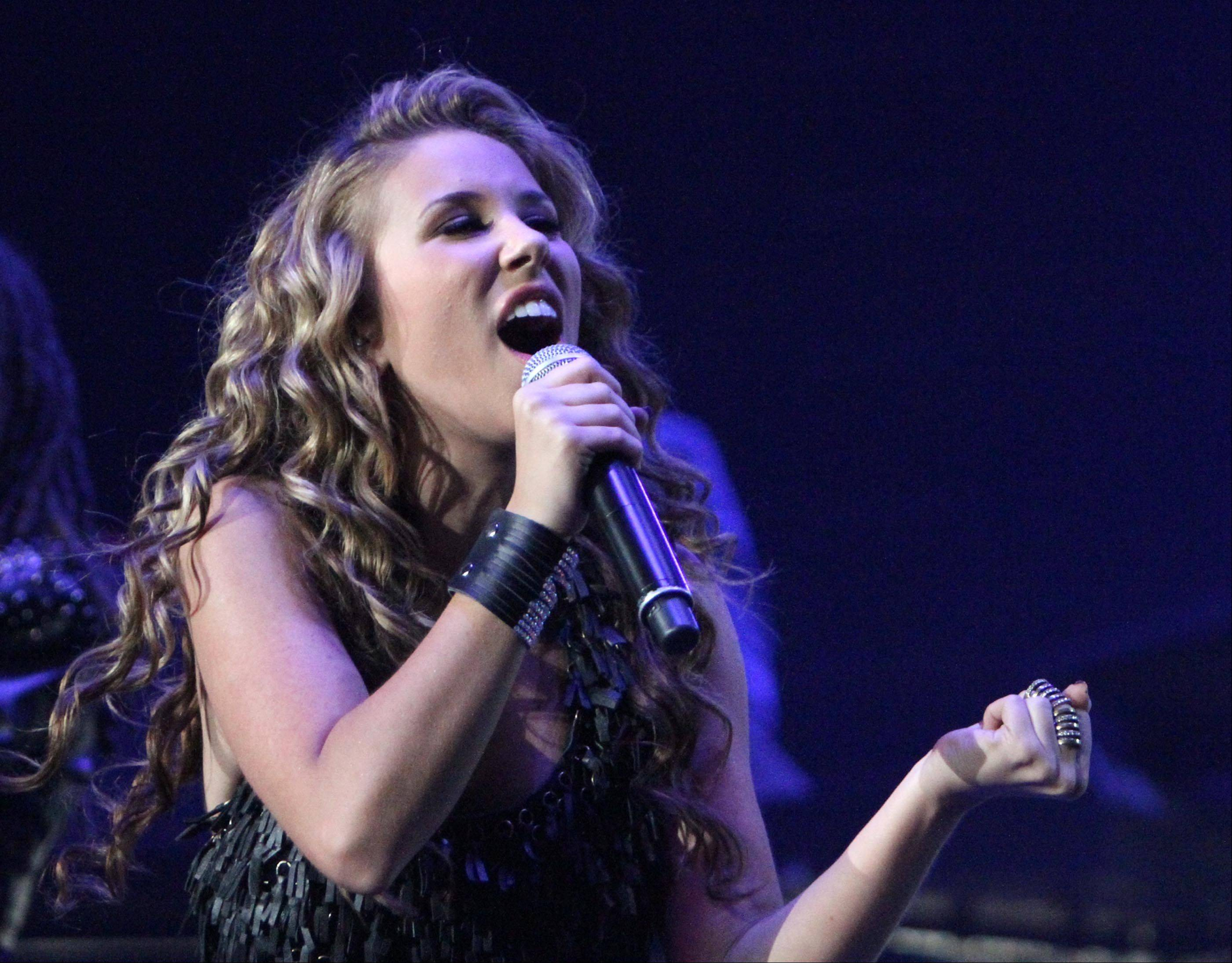 Haley Reinhart performs during the American Idol concert at Allstate Arena in Rosemont.