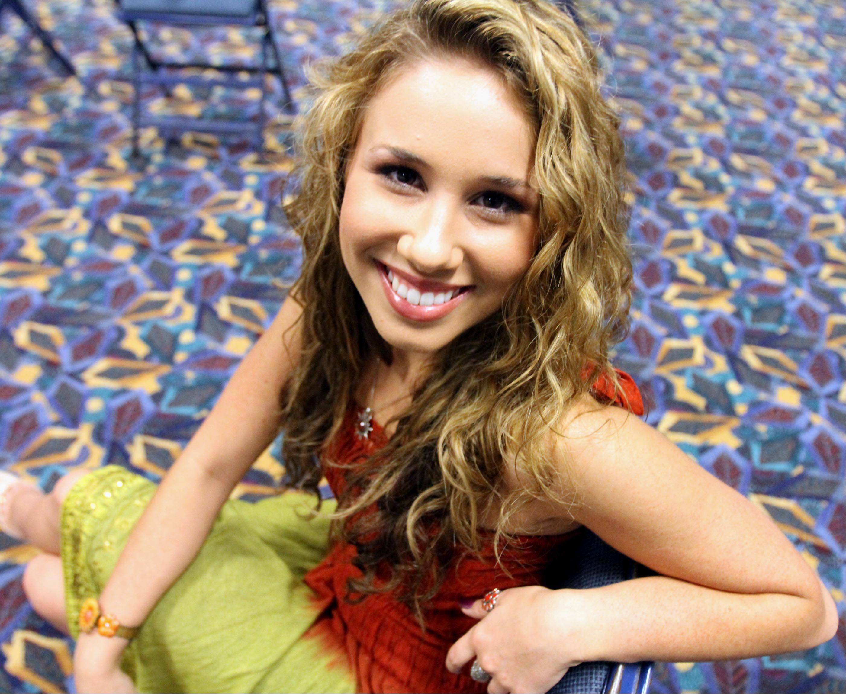 Haley Reinhart poses for a photograph before the concert Saturday.