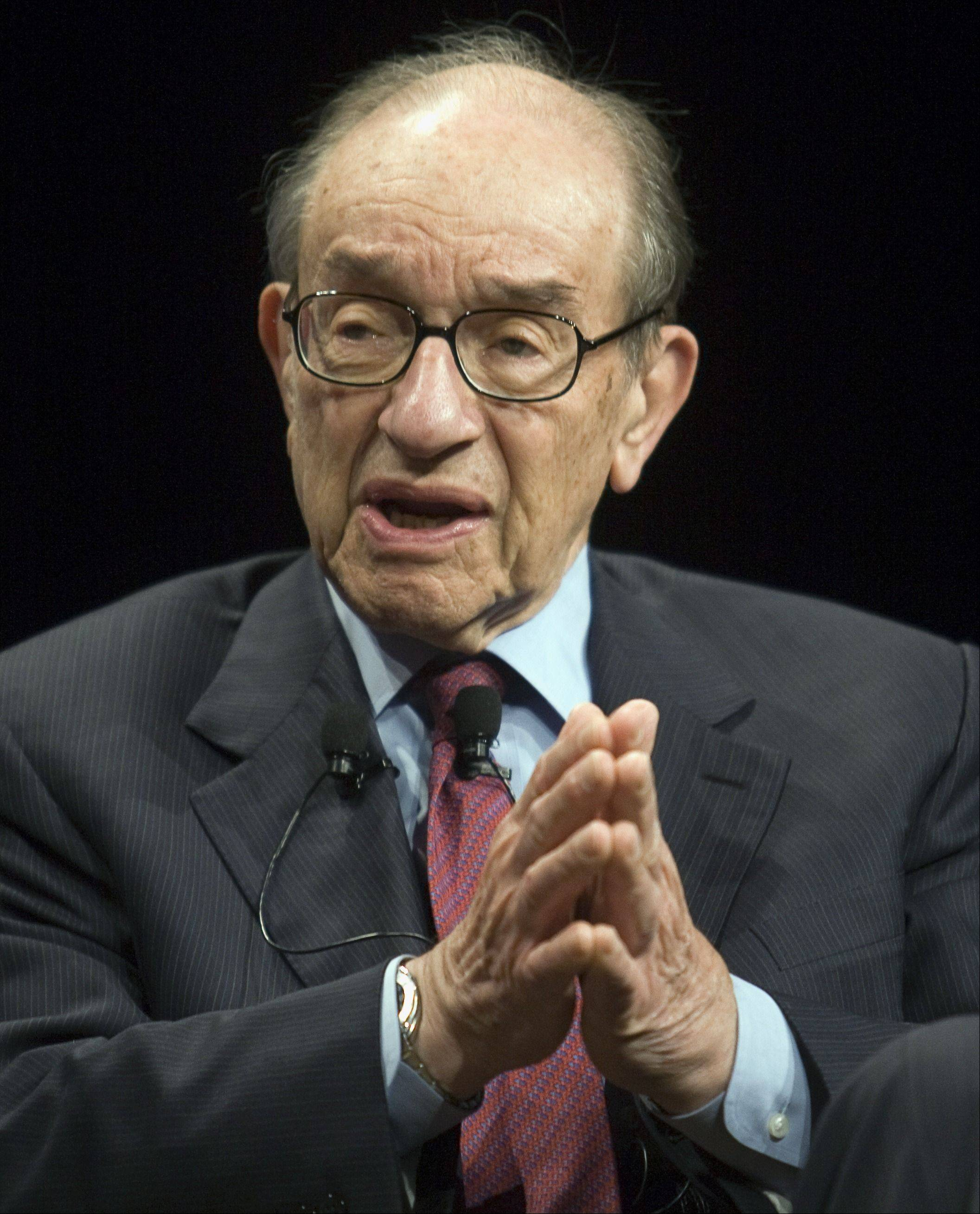 Former Federal Reserve Board Chairman Alan Greenspan expects stocks to continue their decline after Standard & Poor's downgraded the nation's credit rating.
