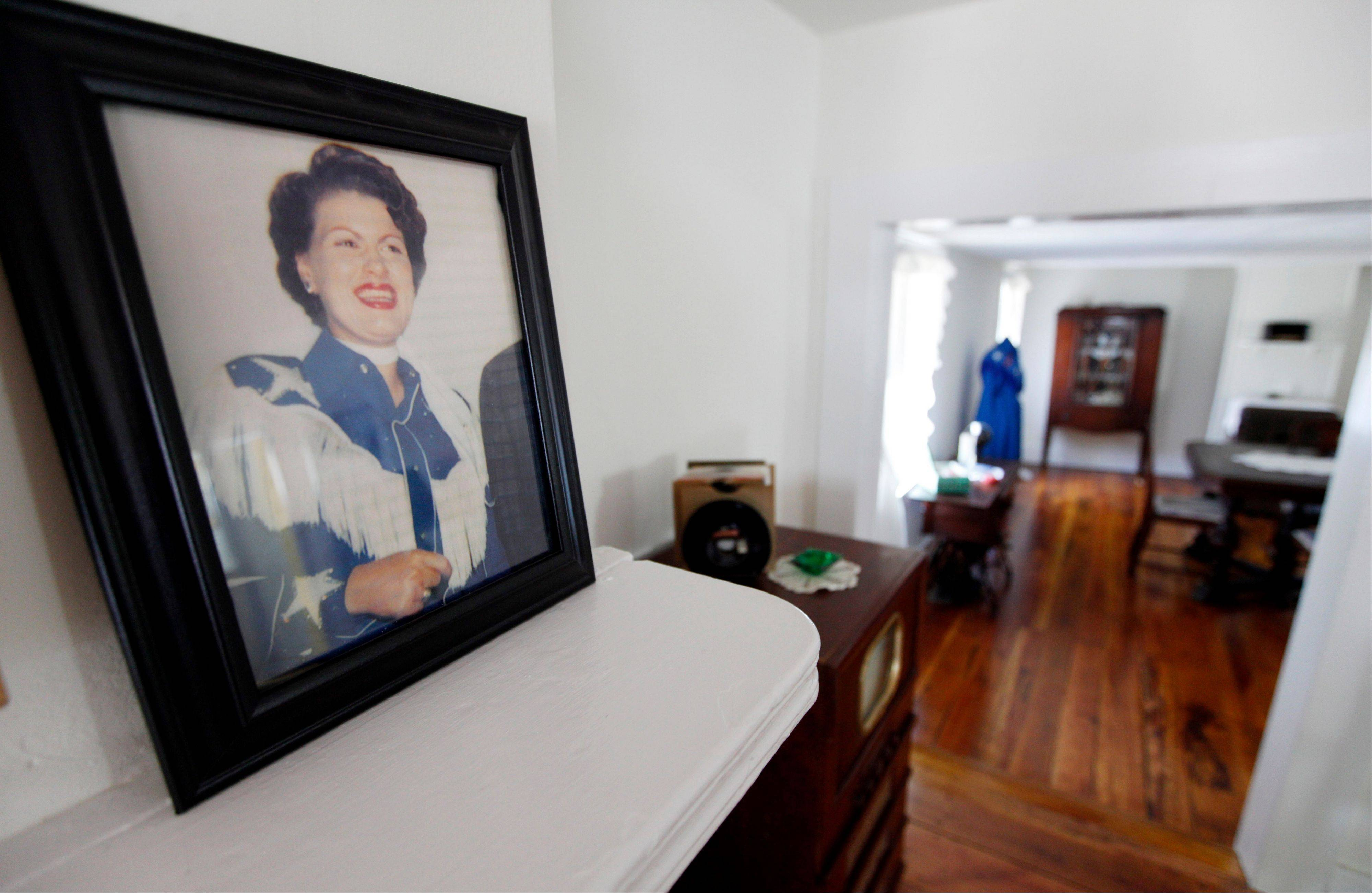 All kinds of items are on display at the childhood home of country singer Patsy Cline in Winchester, Va.
