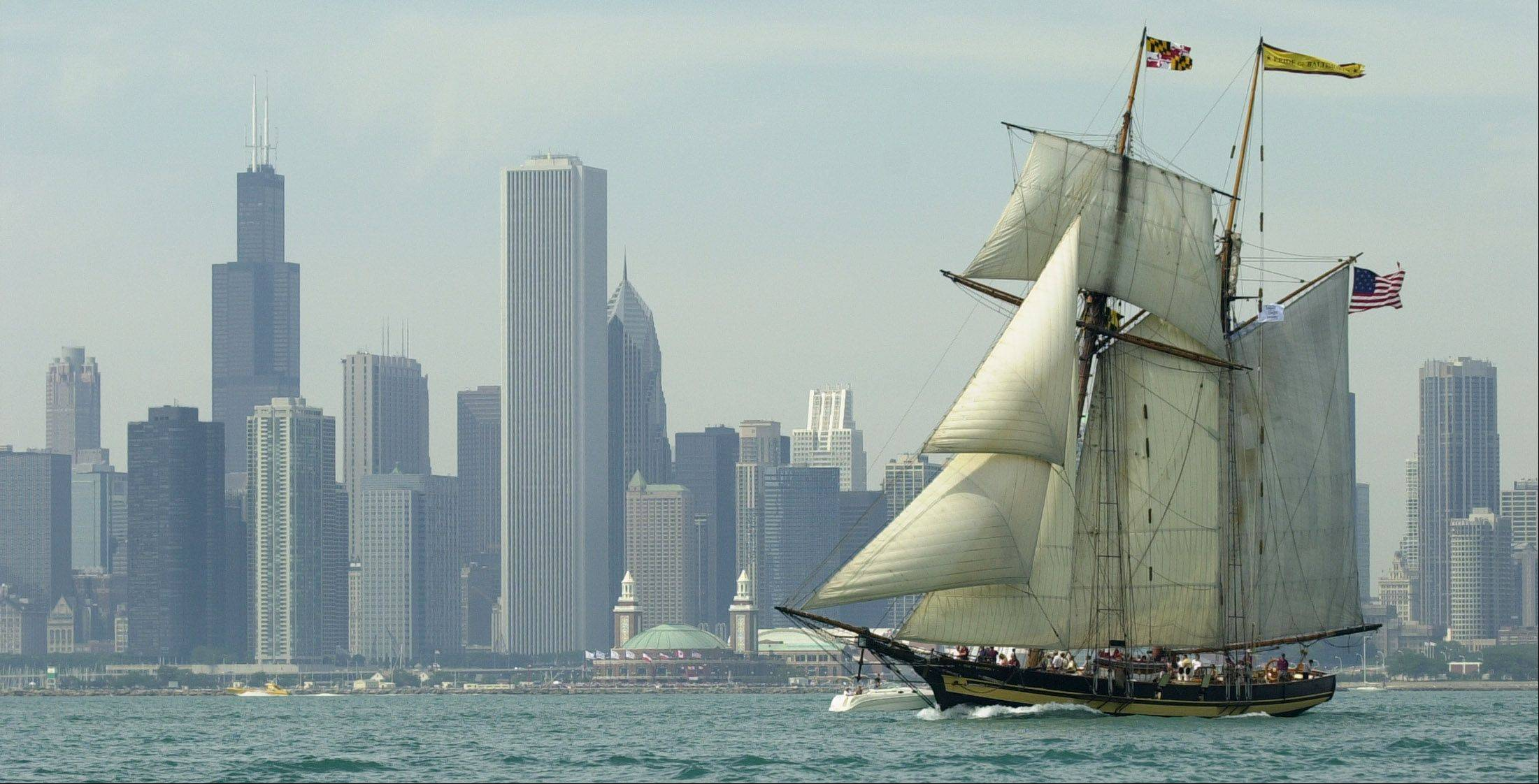 "The sailing ship ""Pride of Baltimore II"" will visit Chicago during ""A Taste of Tall Ships Chicago 2011"" from Aug. 11-14 at Navy Pier."