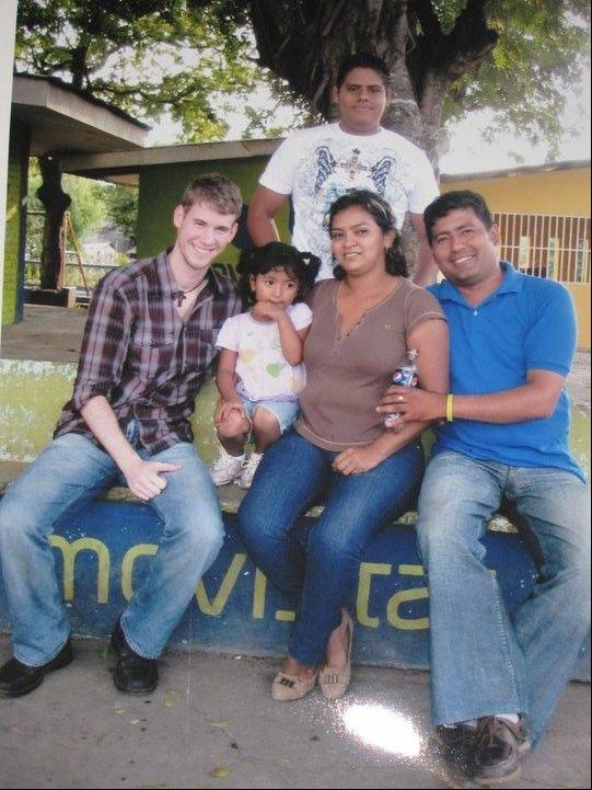 Pete Stephan, left, is living with a family while serving as a Peace Corps volunteer in Nicaragua. Stephan is a business volunteer and will teach entrepreneurship in local high schools.