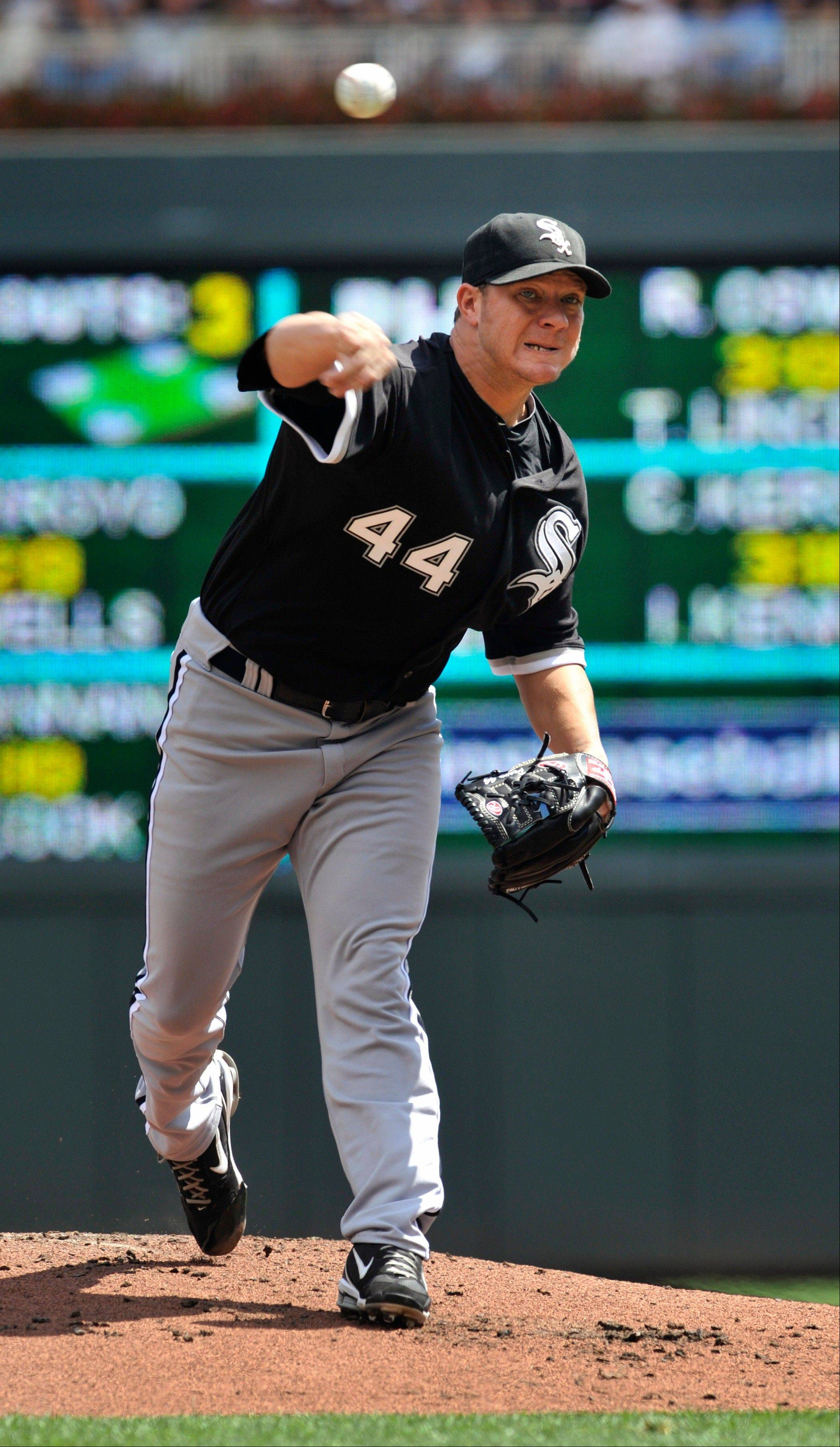 Jake Peavy gave up only three hits, all in the first three innings, on Sunday against Minnesota.