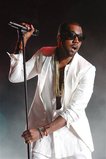 U.S. singer and rapper Kanye West ranted during a performance at the Big Chill music festival Saturday.