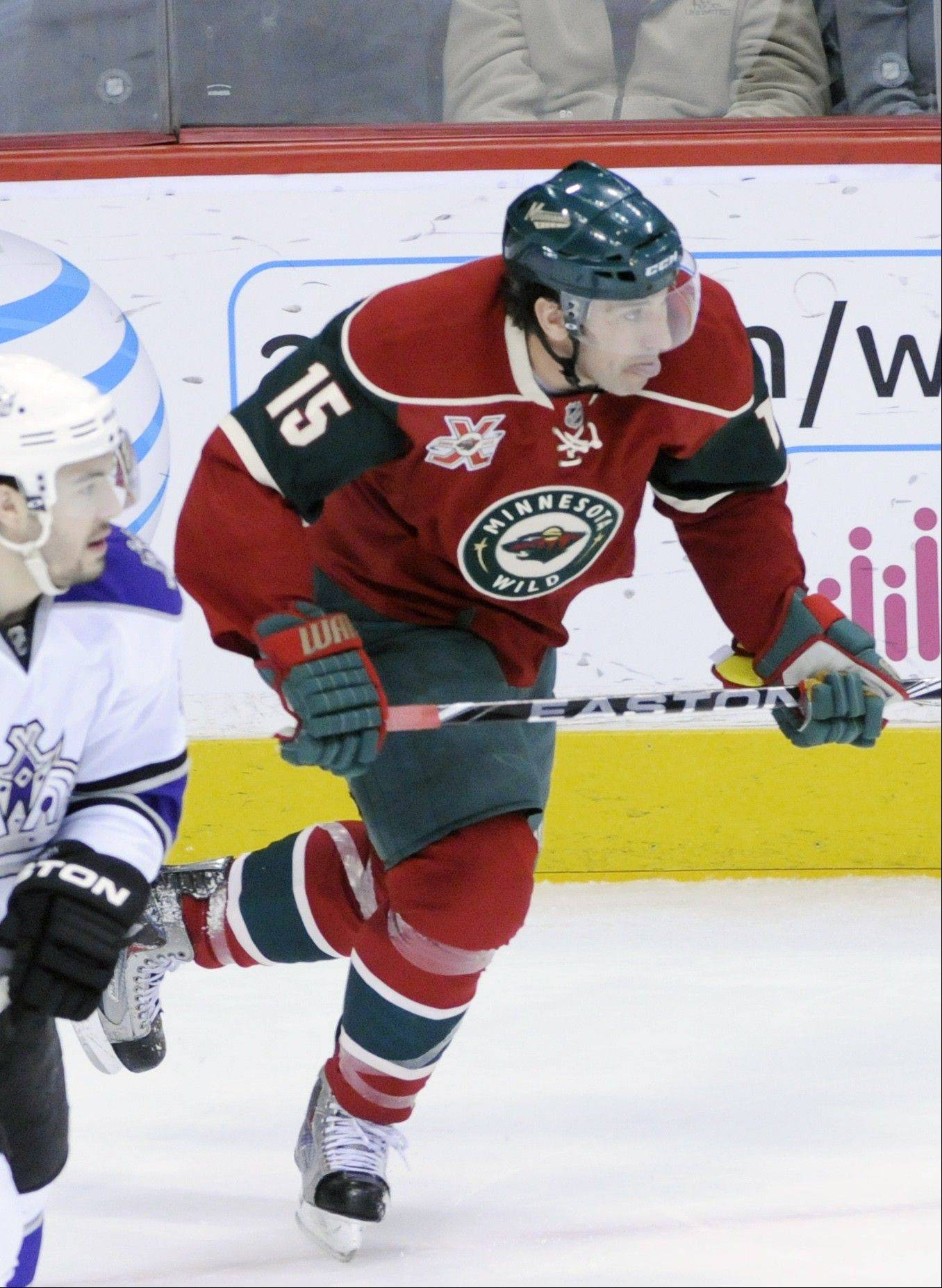 Former Minnesota Wild forward Andrew Brunette is excited about playing for the Blackhawks and his former coach in Phoenix, Joel Quenneville. Brunette is considered a crafty player in tight and should help establish a net-front presence on the Hawks power play.