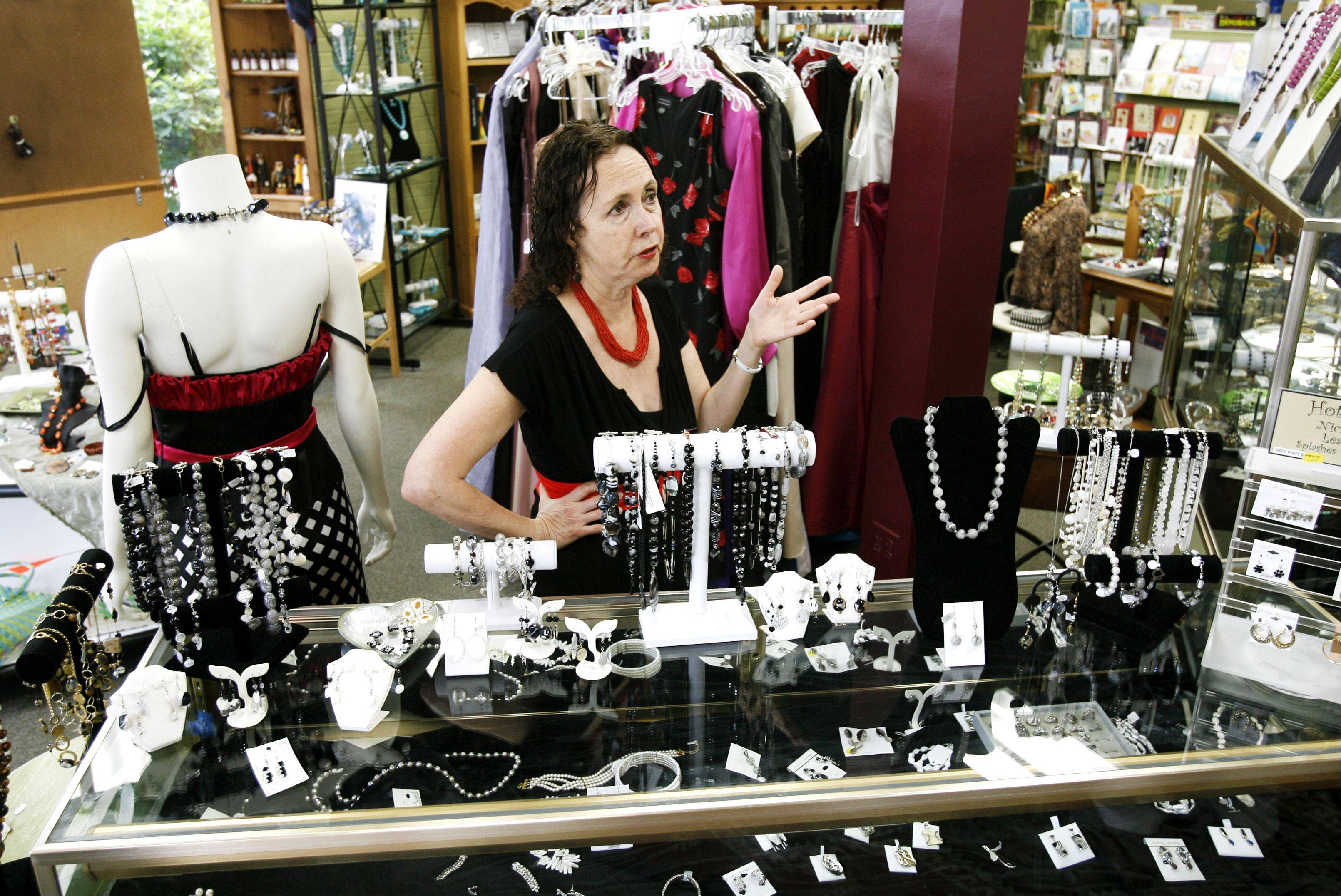 SARET Charitable Fund President Chana Bernstein says she may close the charity's downtown Glen Ellyn store if sales don't pick up in the next few months.