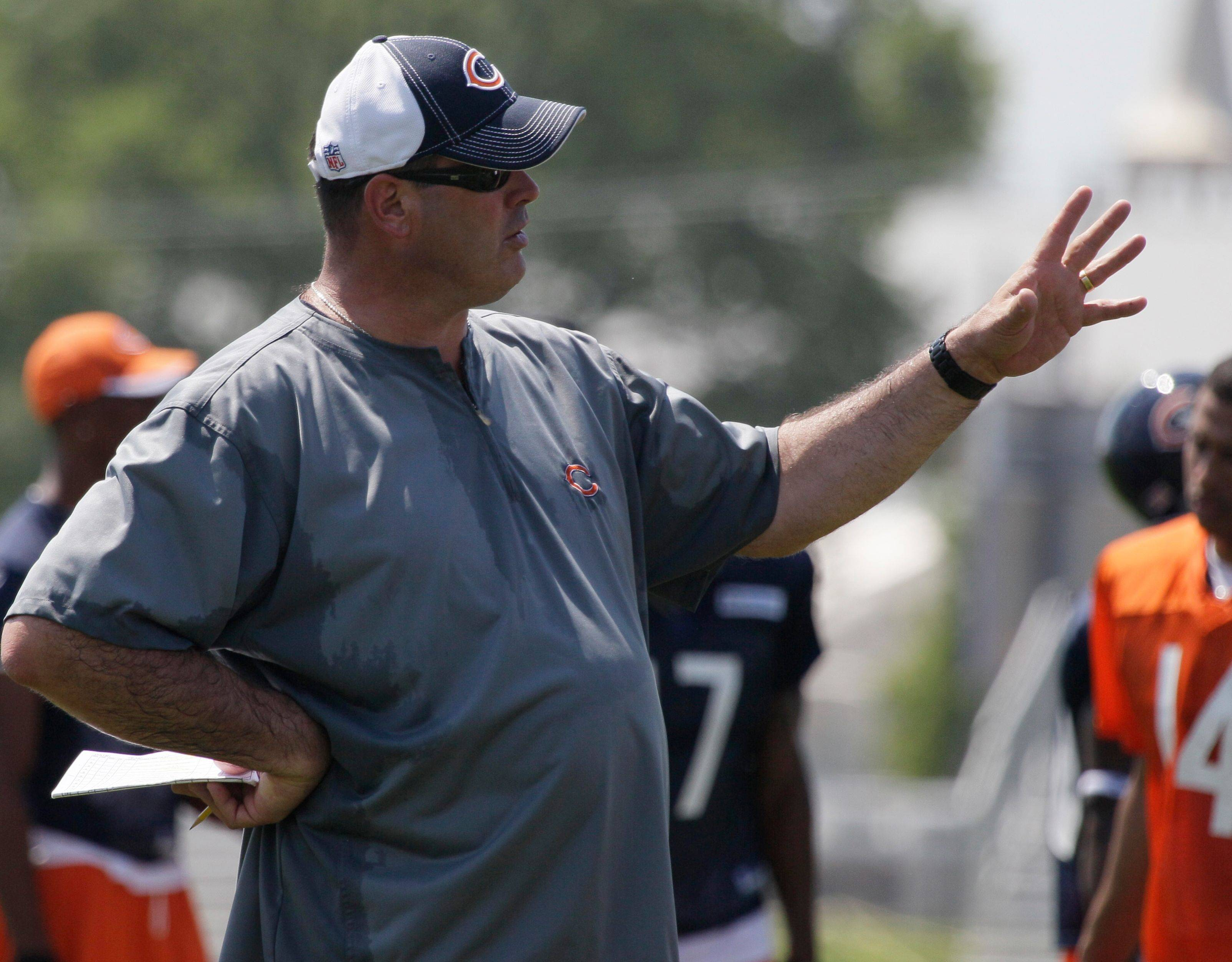 Bears offensive line coach Mike Tice likes what he has seen so far from his starting five going into Saturday's preseason opener against the Buffalo Bills.