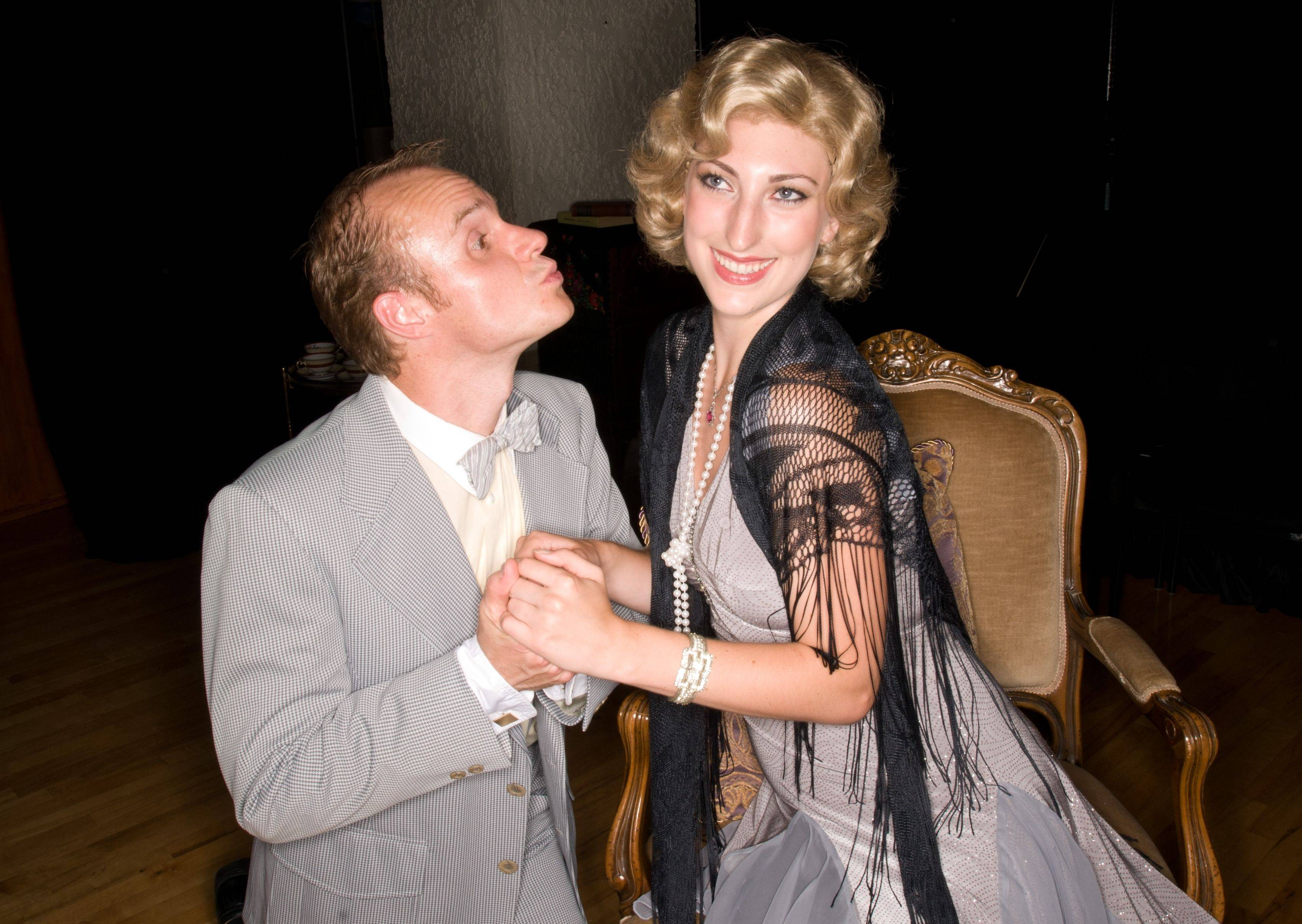 "Dennis Edward and Lucy Zukaitis star in Janus Theatre's production of ""The Importance of Being Earnest."" It's running in repertory this summer with ""Twelfth Night."""